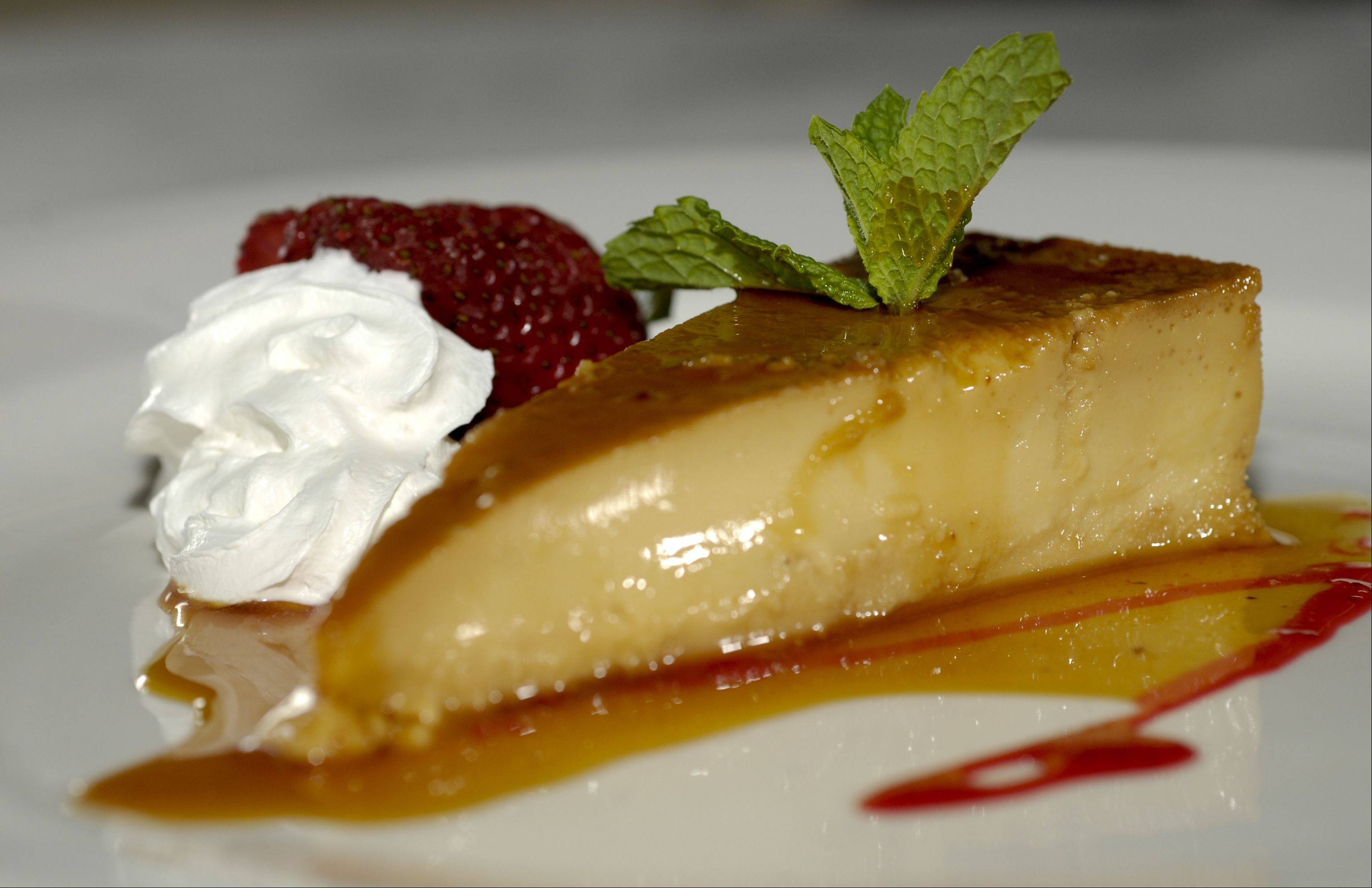 Peruvian flan is a fine way to end a meal at Rio's in Addison.