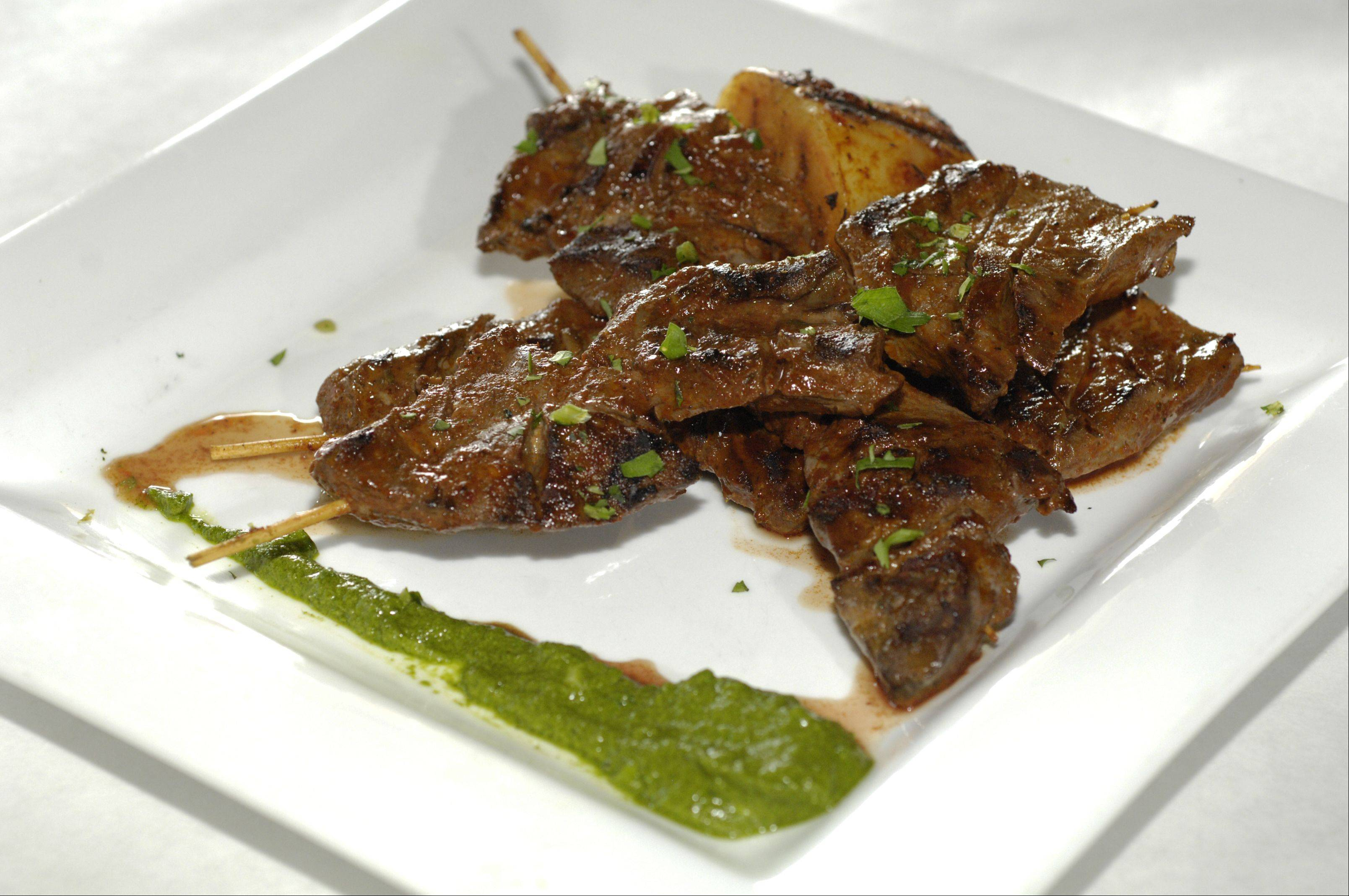 Anticuchos is a highlight on the menu at Rio's.