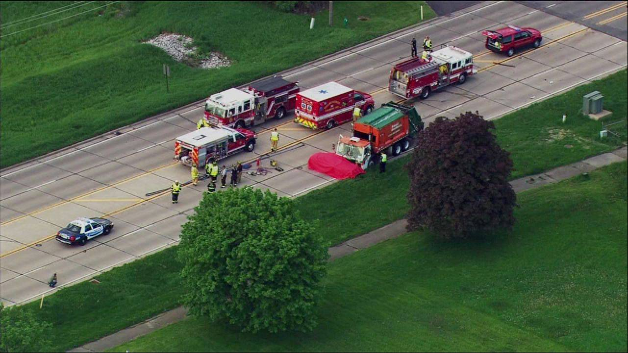 A 23-year-old North Aurora woman was killed early Wednesday in a crash on Fabyan Parkway in Geneva, police said.