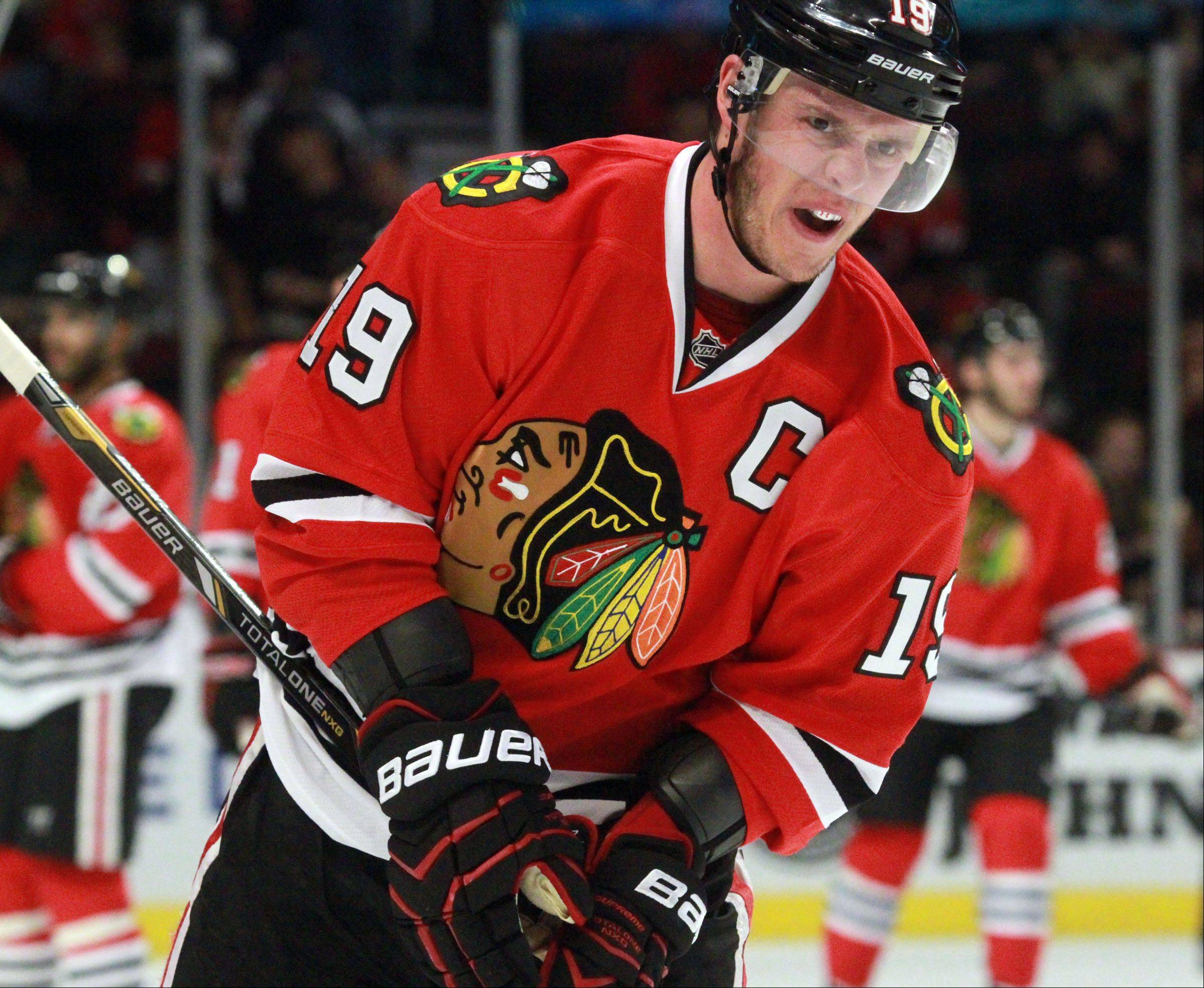Blackhawks center Jonathan Toews is one of three finalists for the Selke Trophy, which is awarded to the top defensive forward in the NHL.