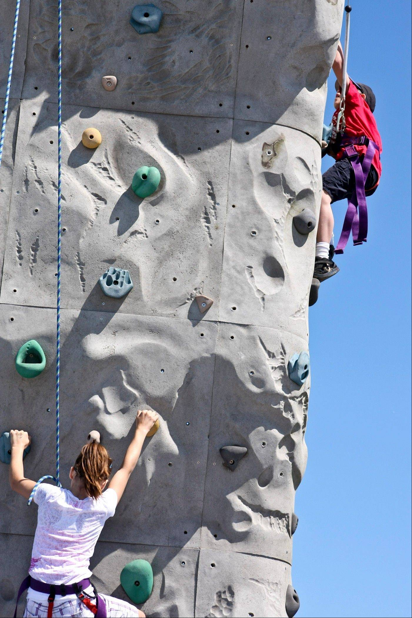 Visitors to Carol Stream's JustPlay! Sports and Recreation Festival can try scaling a 25-foot climbing tower among the many adventure activities and sports included in the event Saturday and Sunday.