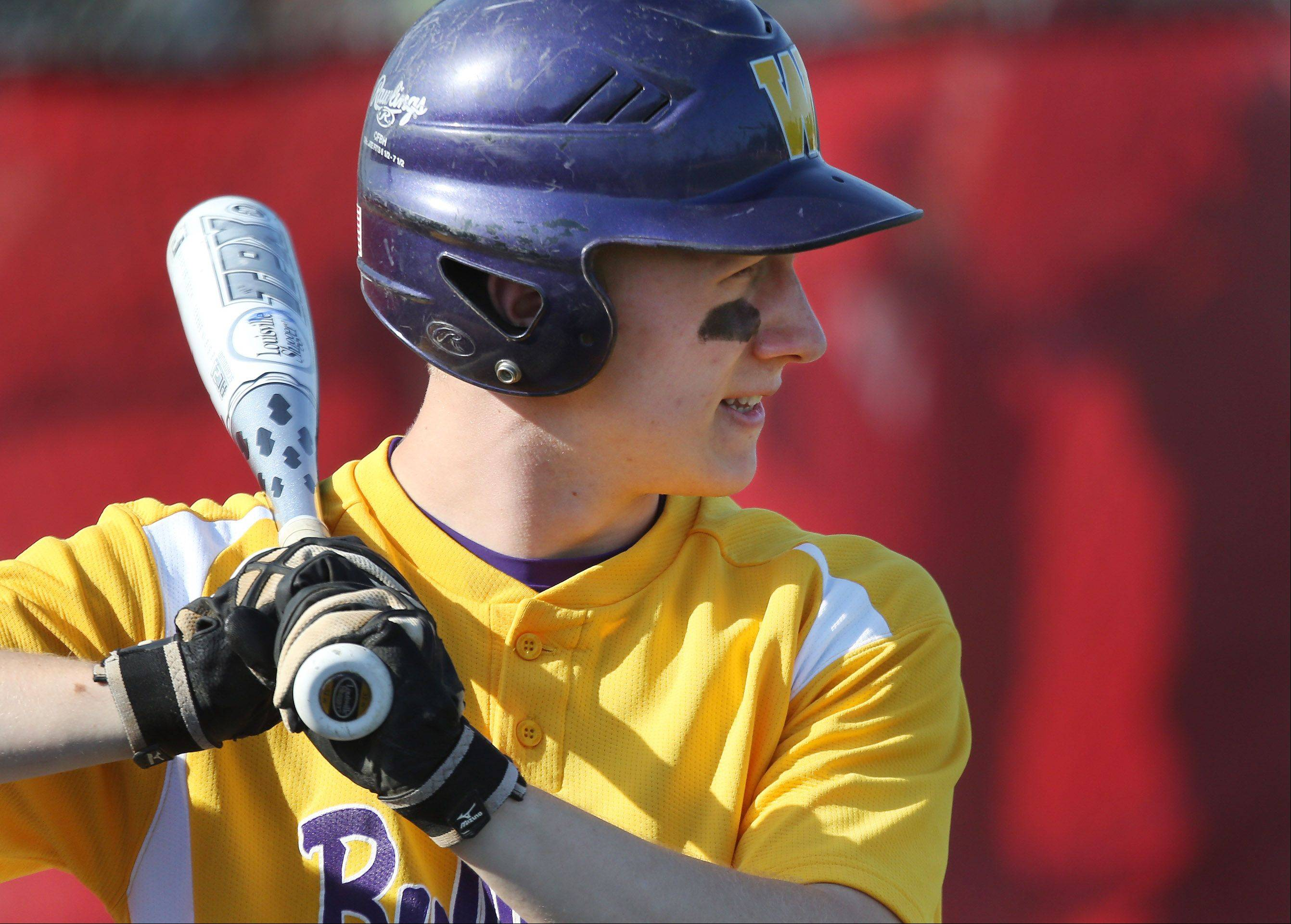 Wauconda shortstop Brandon Gibis waits to bat during the North Suburban Conference baseball championship game Thursday.