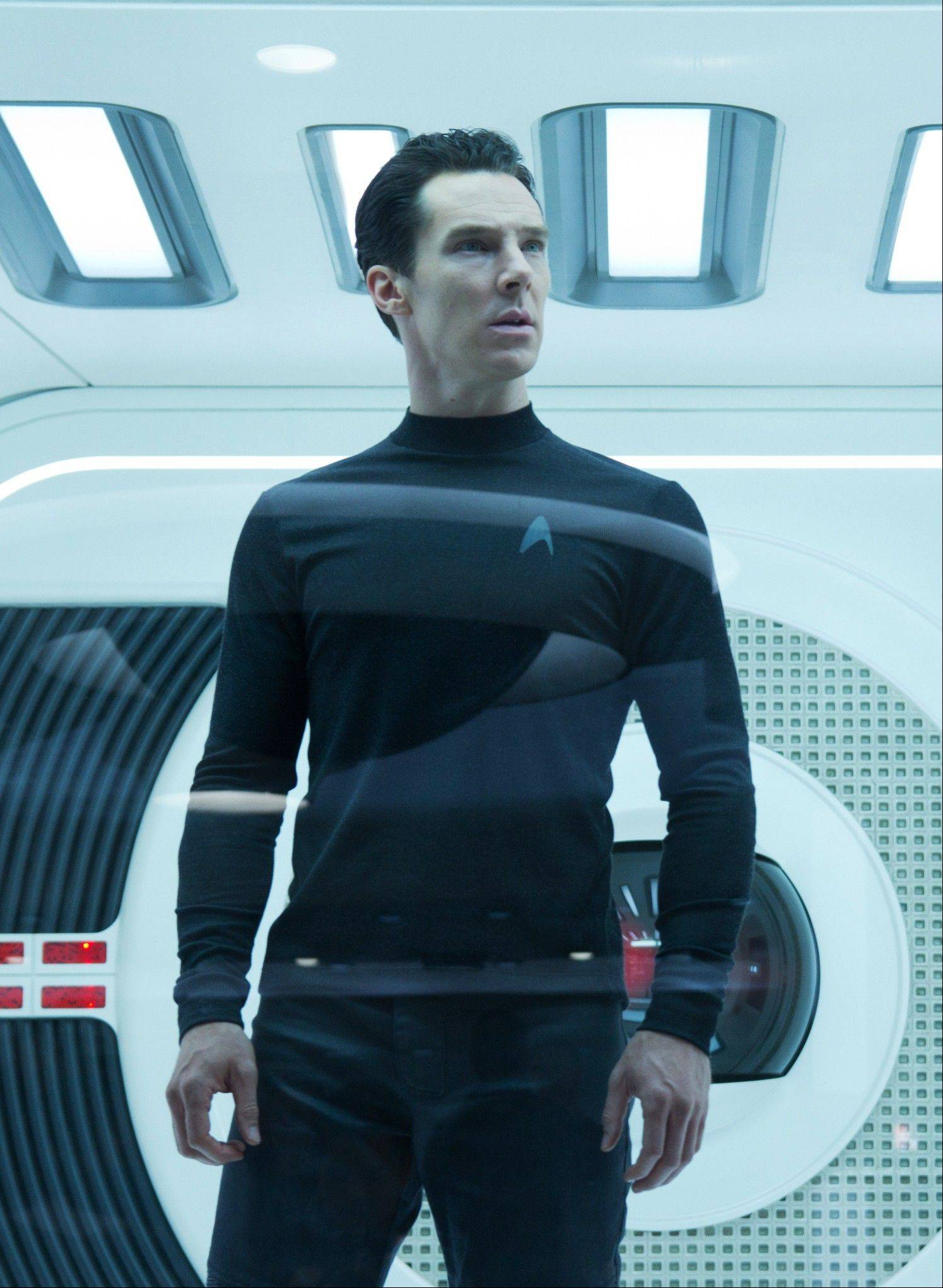 "Renegade John Harrison (Benedict Cumberbatch) makes trouble for the USS Enterprise in the reboot sequel ""Star Trek Into Darkness."""