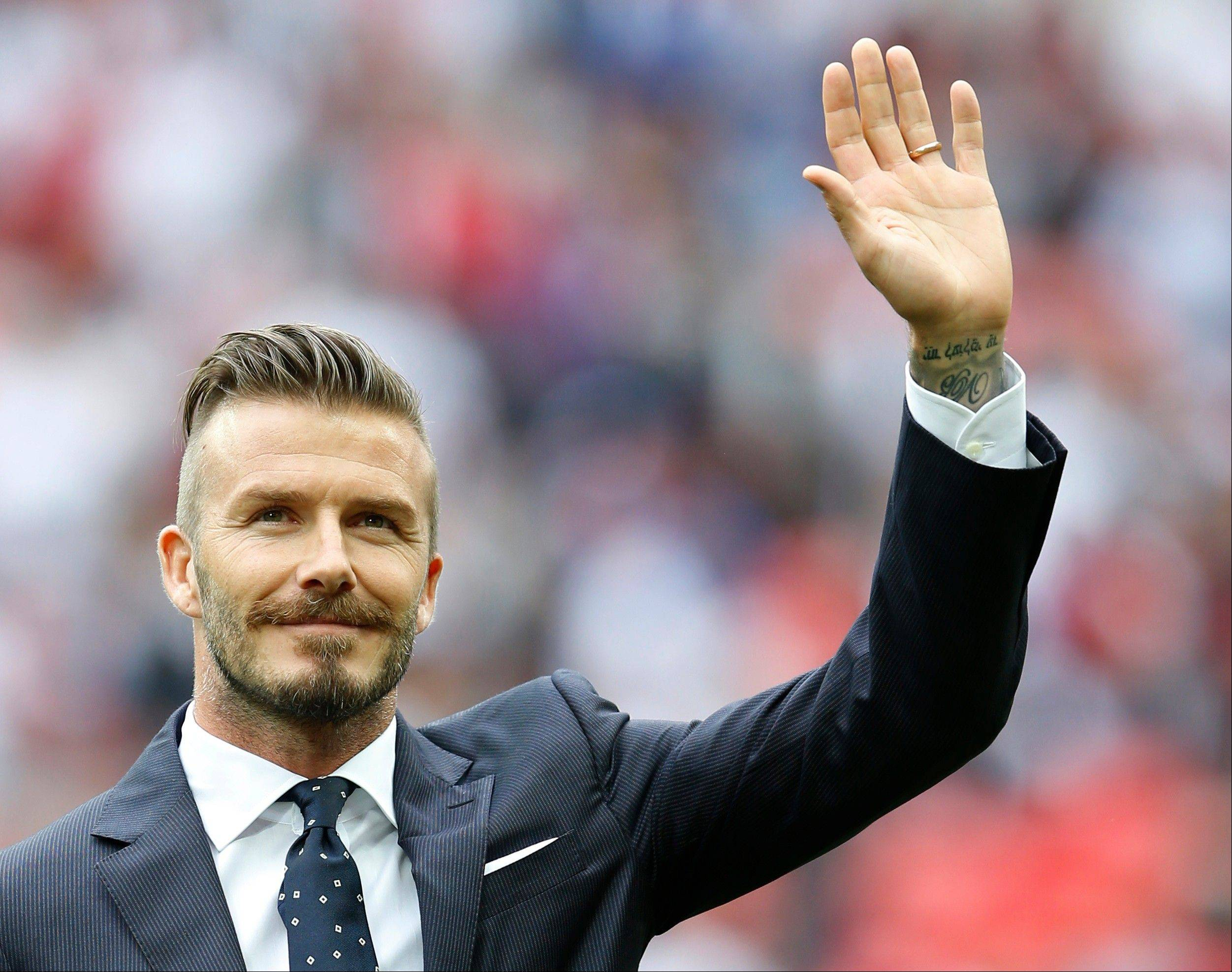 England's David Beckham is retiring from soccer at the end of the season. The 38-year-old Beckham recently won a league title in a fourth country with Paris Saint-Germain. He has become a global superstar since starting his career at Manchester United.