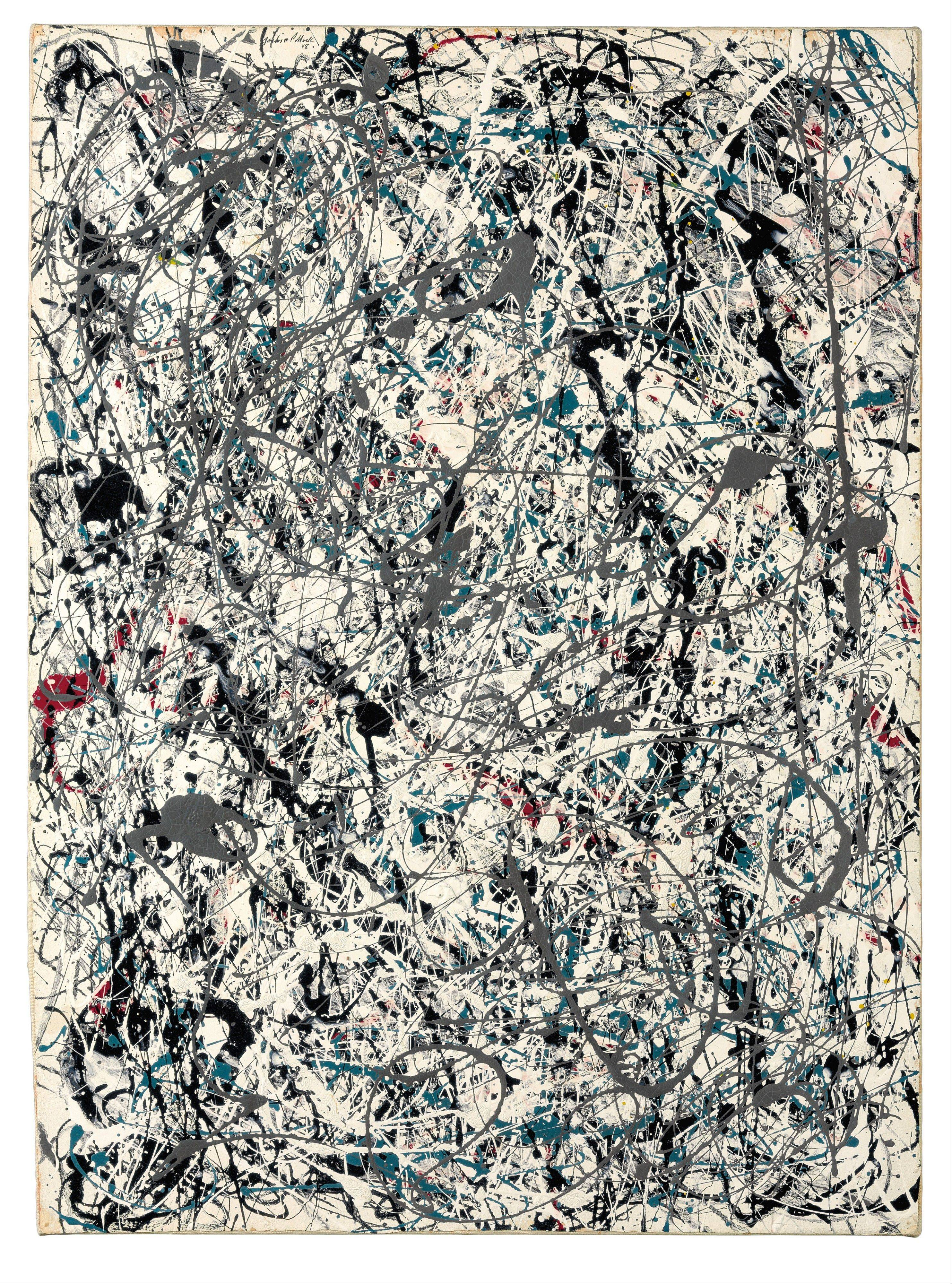 "Associated Press/Christie's This image released by Christie's auction house on Friday shows a drip painting by Jackson Pollock. The important drip painting by Pollock, ""Number 19,"" realized a record $58.3 million at the Christie's auction."