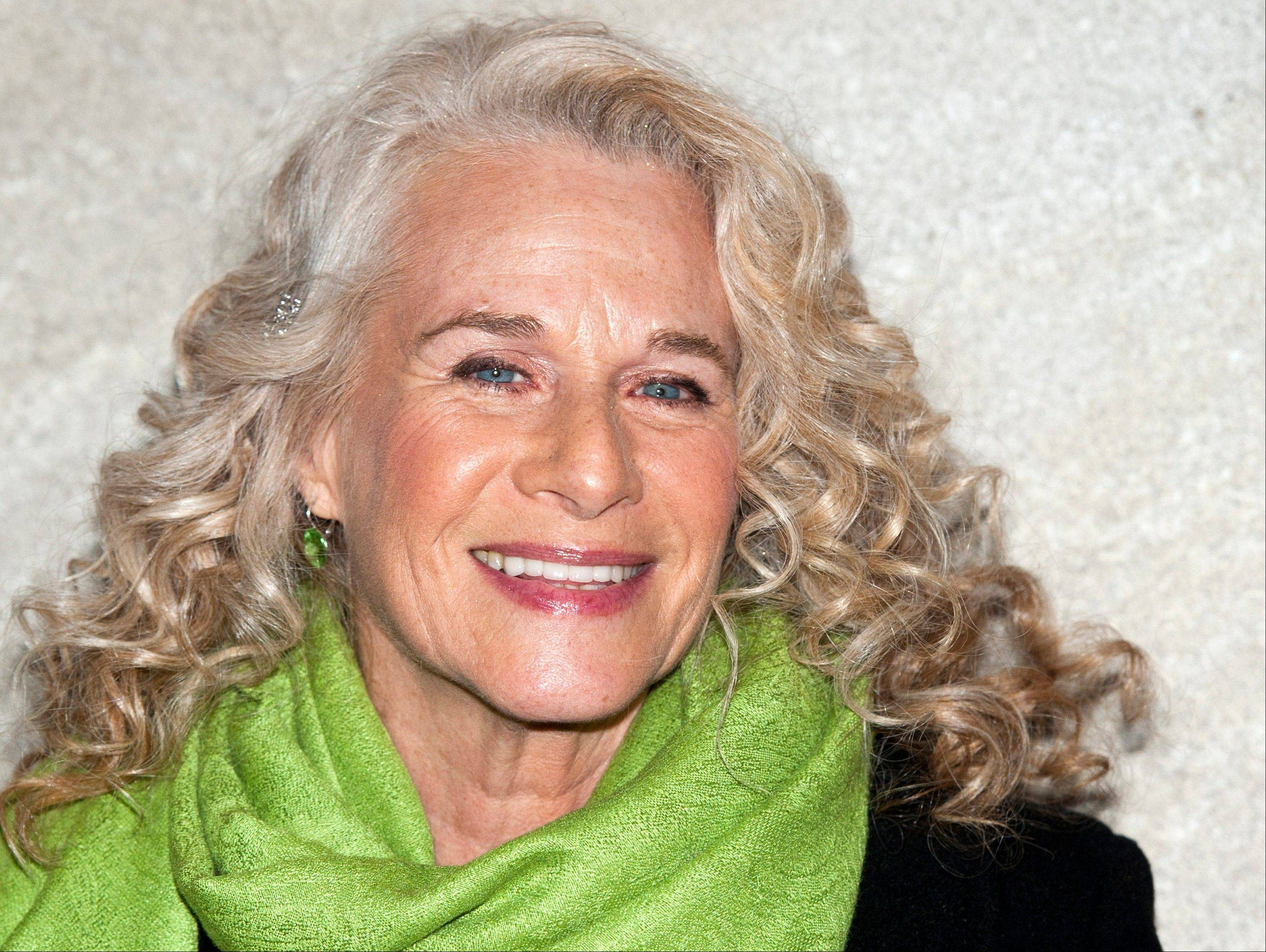 Associated Pres/Nov. 30, 2011 Singer-musician Carole King in New York.