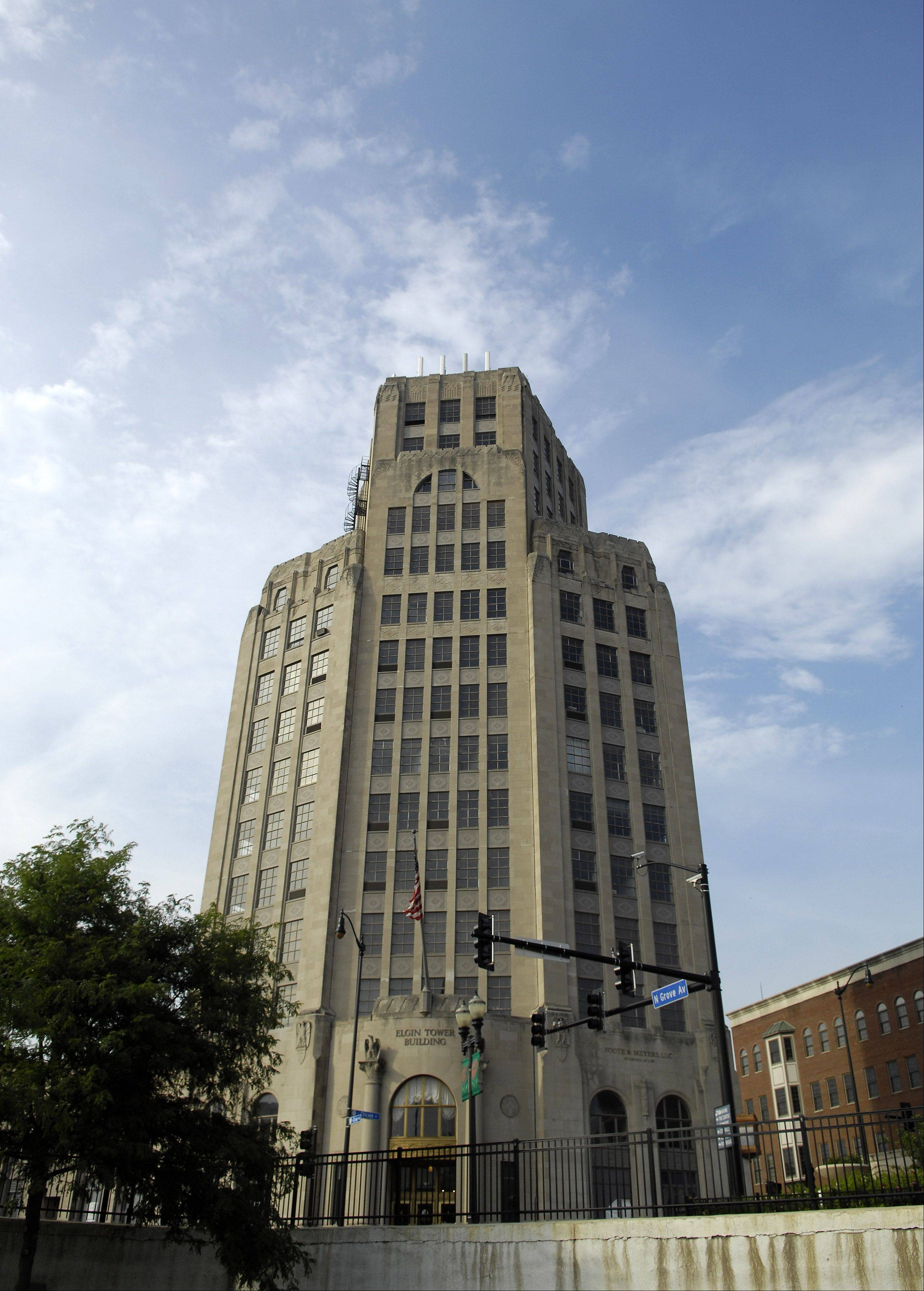 DAILY HERALD ARCHIVE/Rick West The Elgin Tower Building might be purchased by a Wisconsin-based company that would gut and restore it, city officials said.
