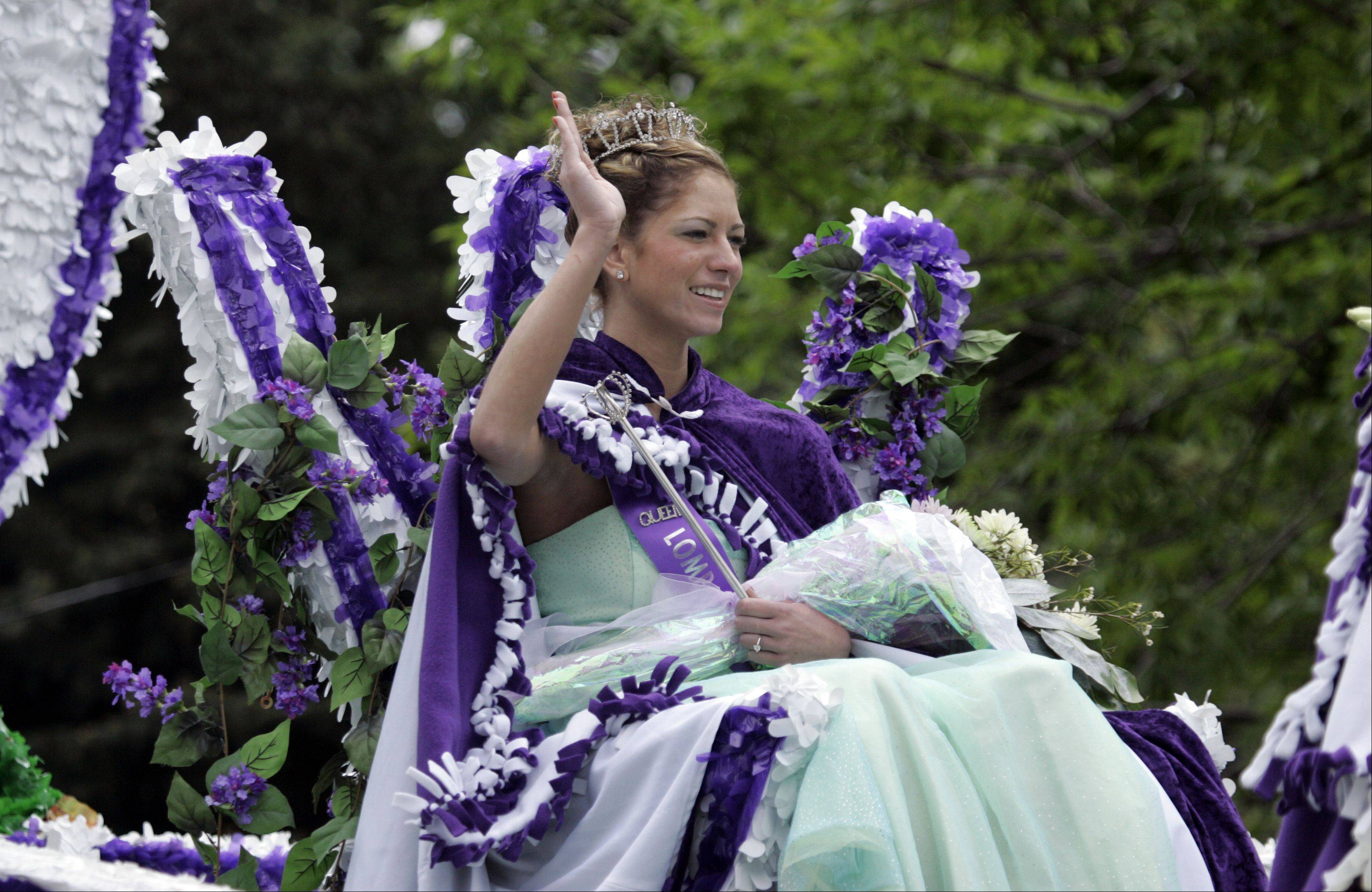 The Lilac Queen always is featured during the Lilac Parade. This year's parade steps off at 1:30 p.m. Sunday, May 19, from Main Street and Wilson Avenue in Lombard.