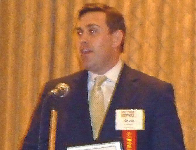 Kevin Frontone, a financiail adviser for Edward Jone, accepted the award for being the Number 1 large company at the 2013 Best Places to Work in Illinois awards in Rolling Meadows Thursday.