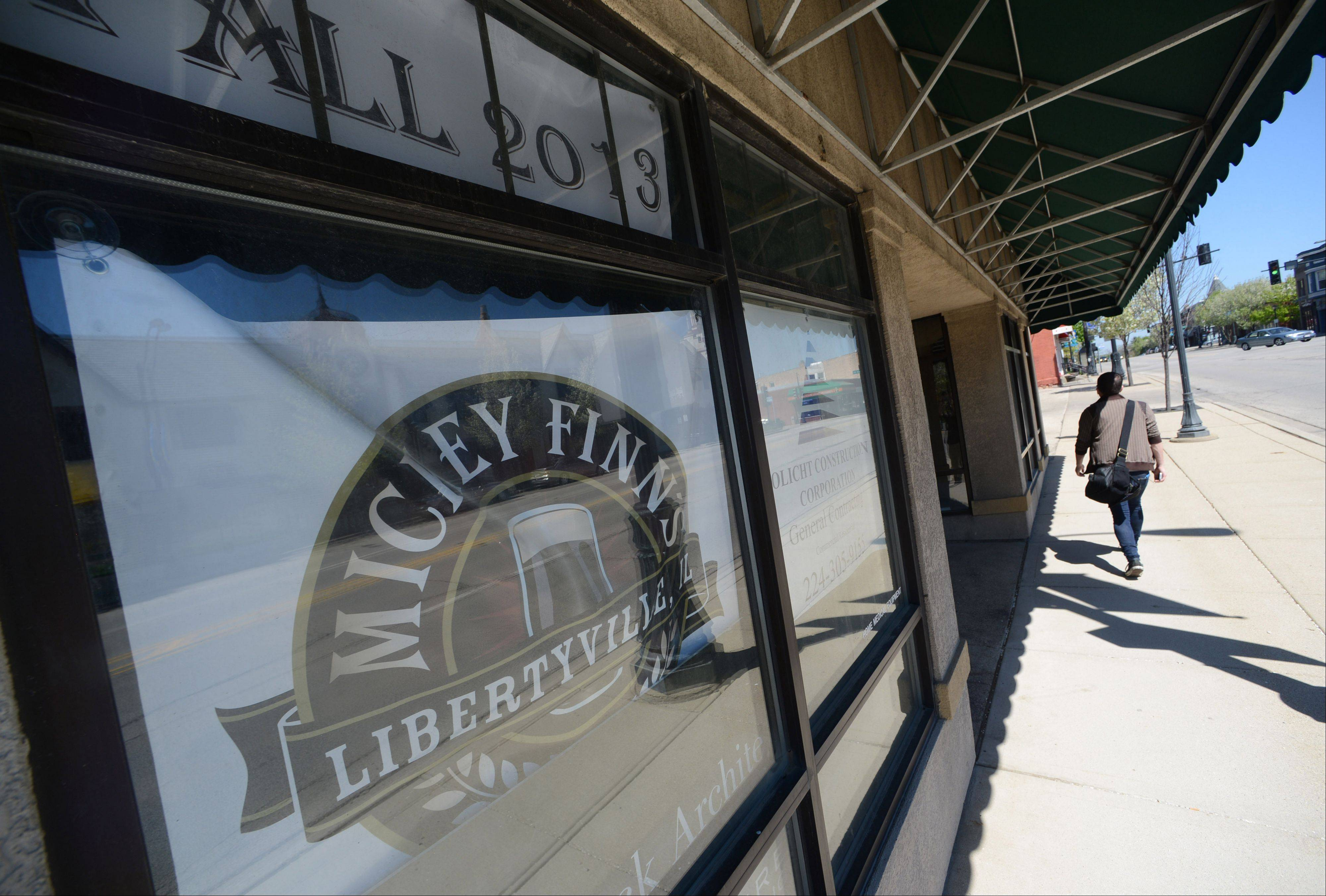 Work is under way for Mickey Finn's new location in downtown Libertyville.
