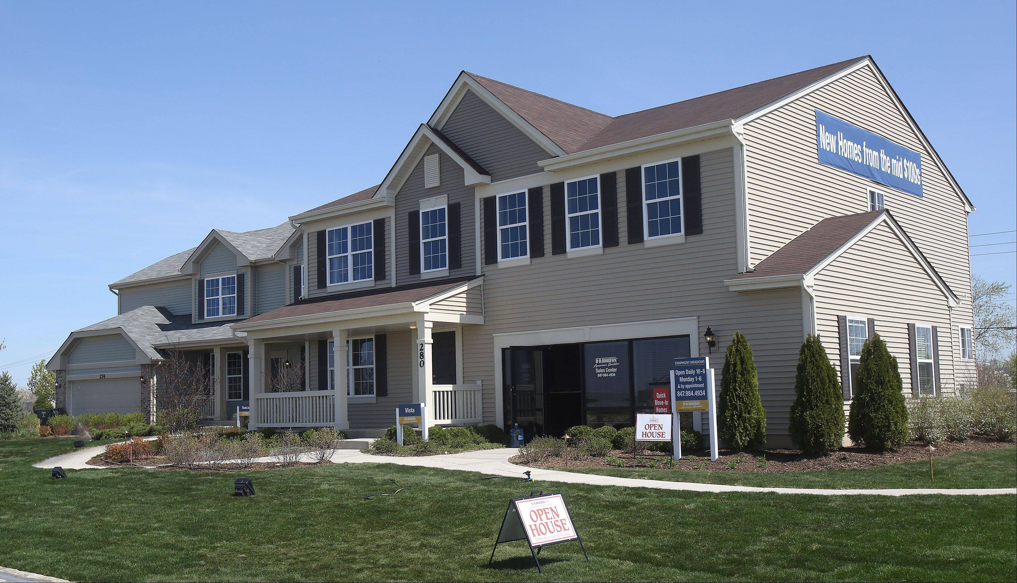 Two new model homes recently opened at D.R. Horton's Symphony Meadows community in Volo.
