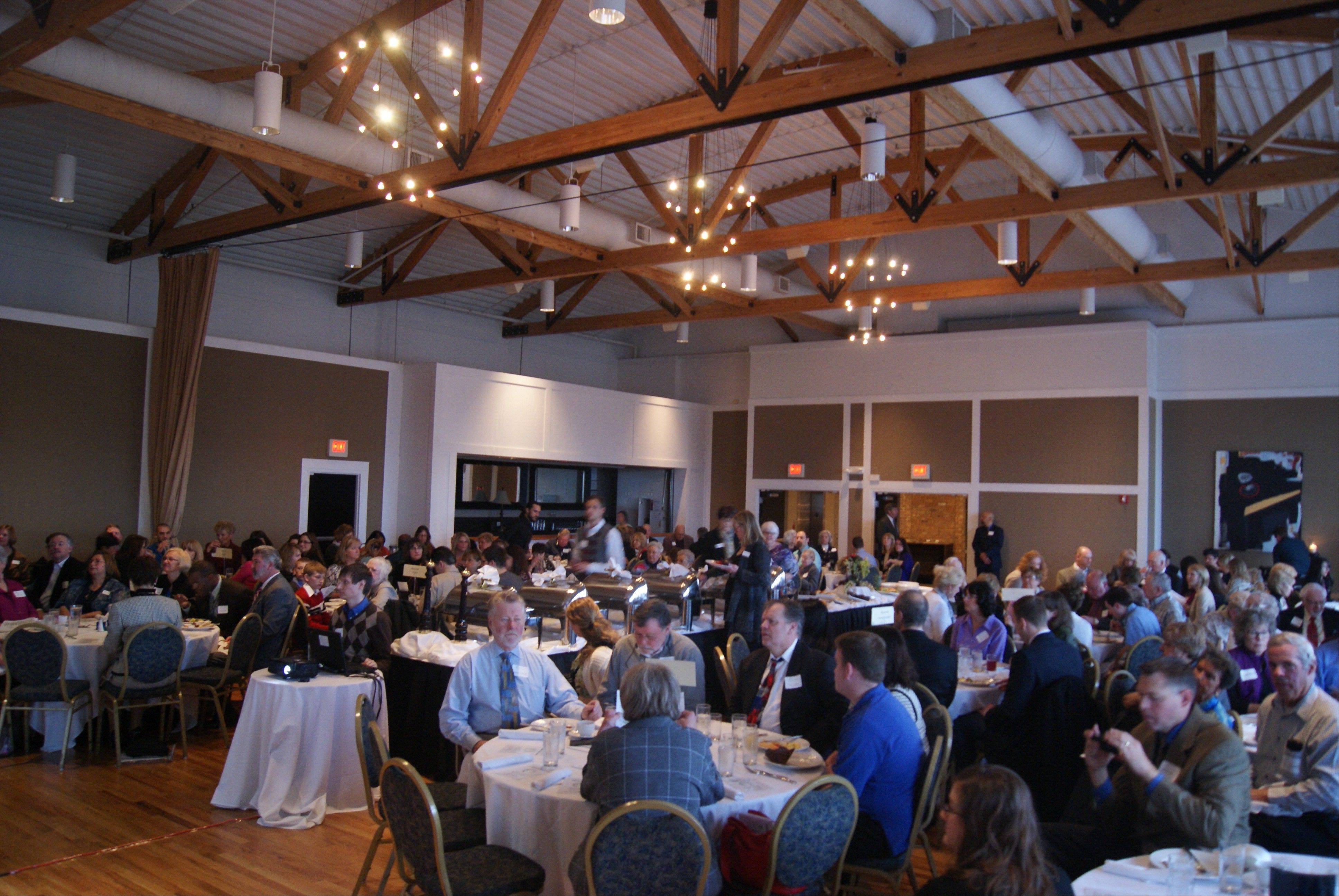 A packed Metropolis Ballroom enjoyed breakfast and the awards program April 11.