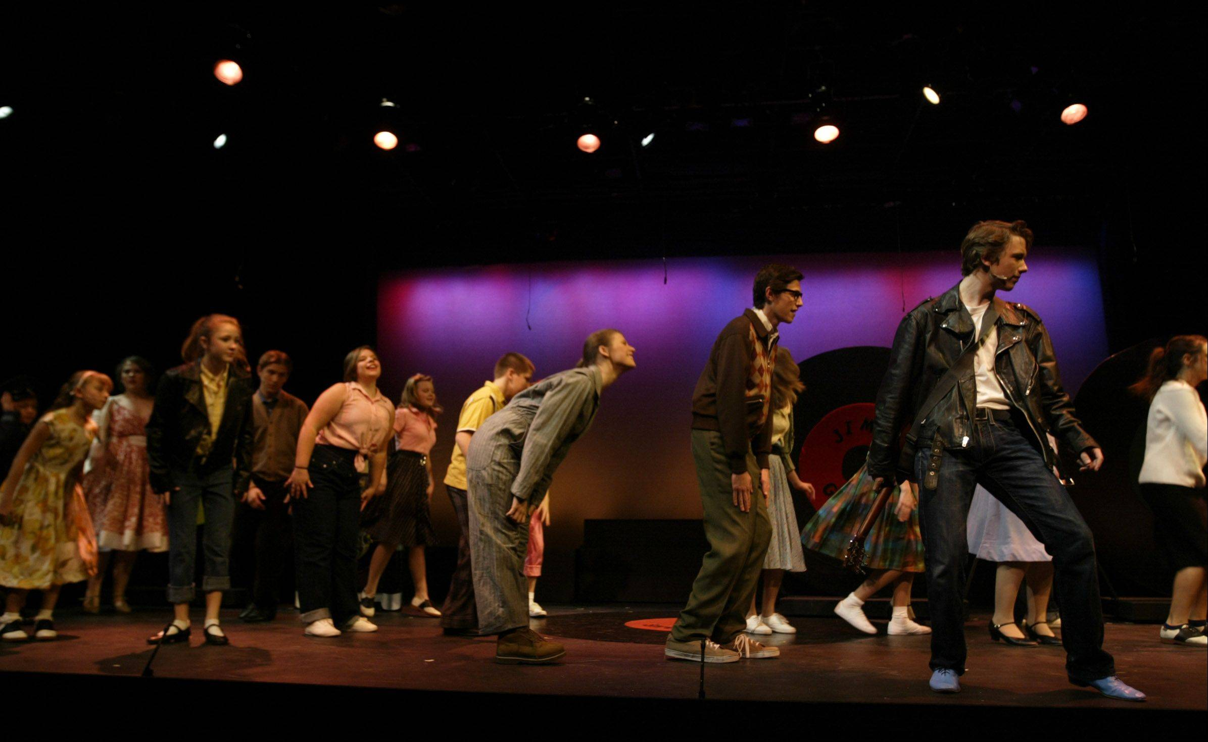 "The cast of ""All Shook Up"" performs during a dress rehearsal for at Pheasant Run. Operators say the 50-year-old resort was the first in the area to offer dinner-theater packages."