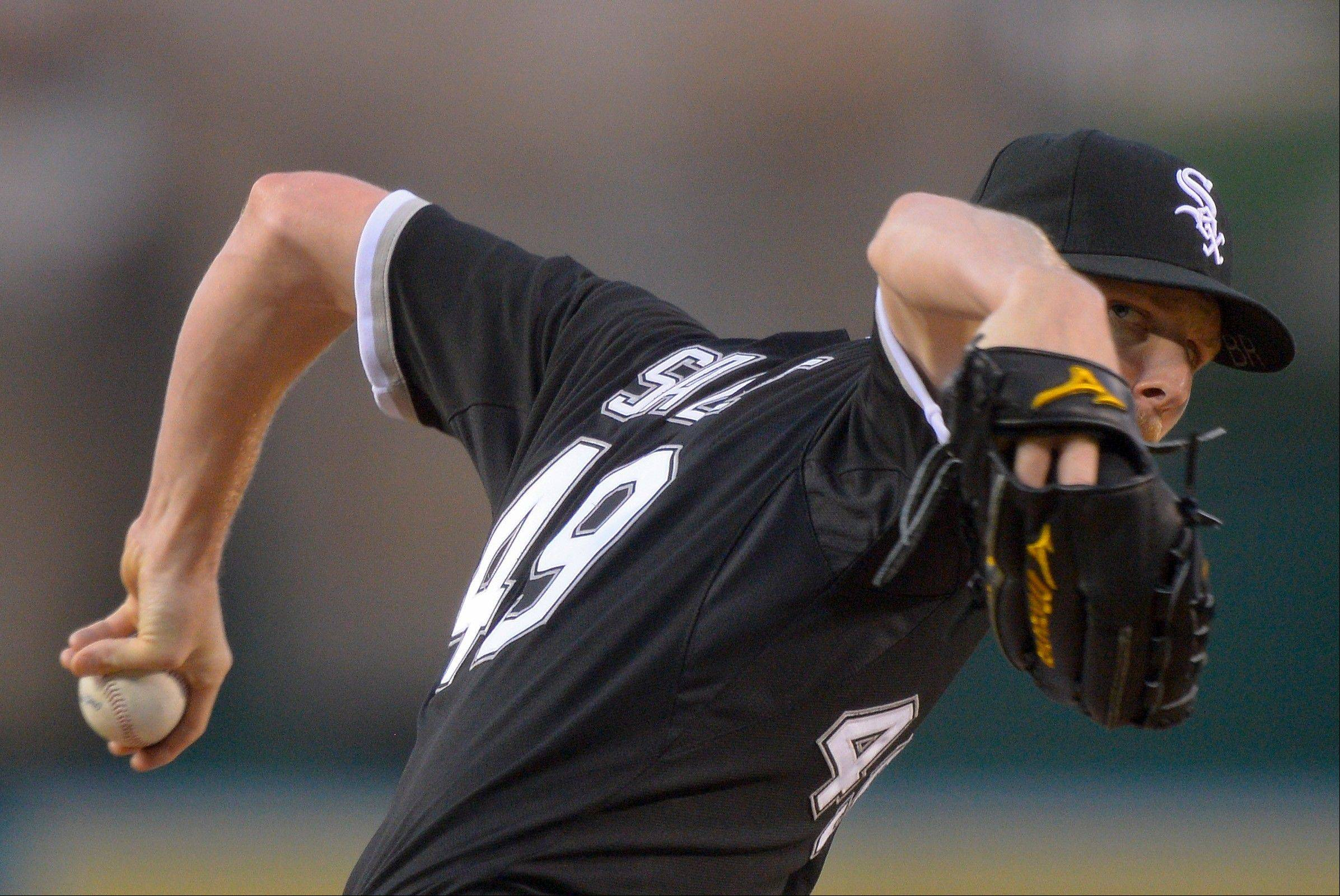White Sox starter Chris Sale worked 7 shutout innings Friday night against the Angels, allowing 3 hits.
