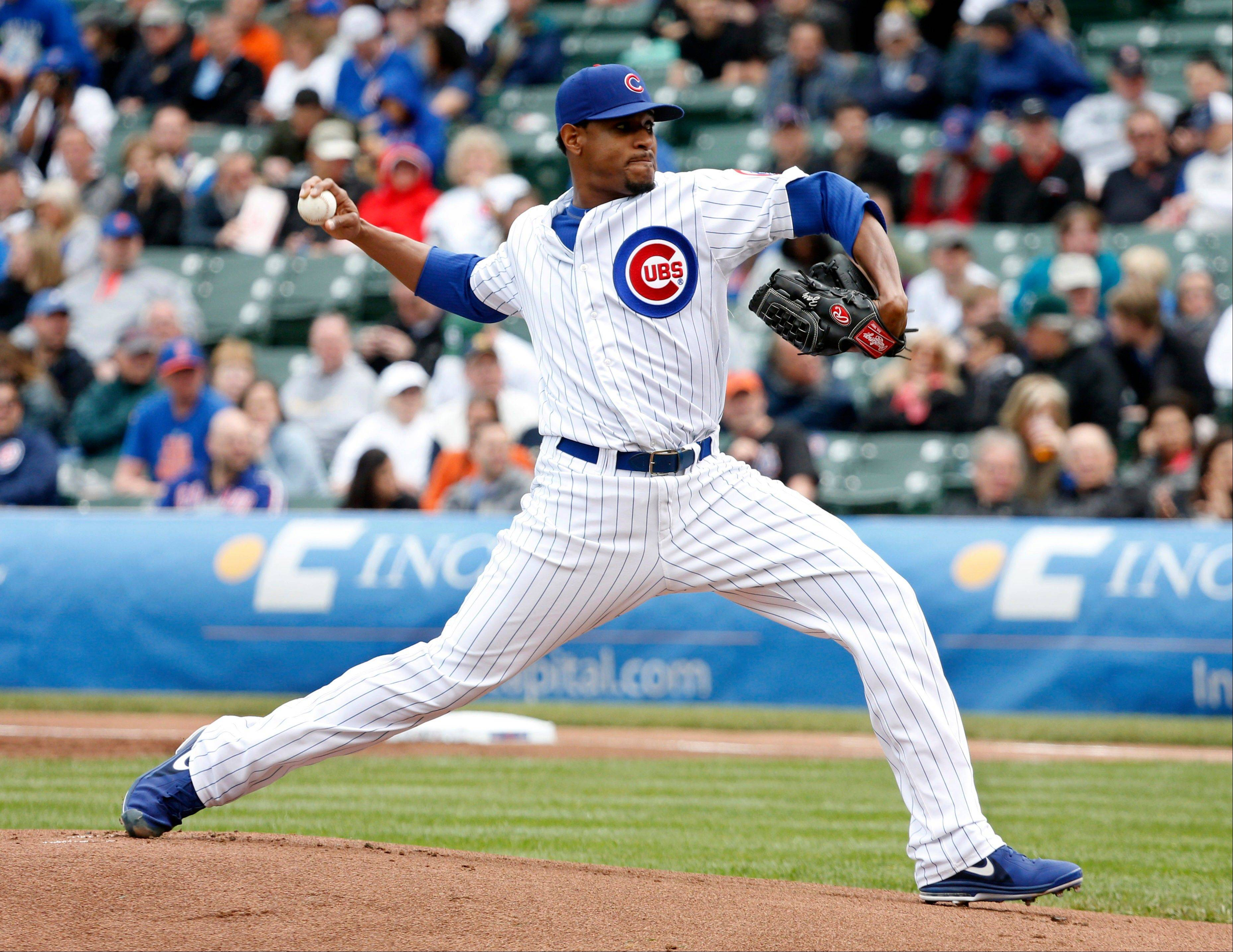 Cubs starting pitcher Edwin Jackson recorded his first quality start since April 25, working 6 innings and allowing 3 runs on 7 hits in a 3-2 loss to the Mets on Friday at Wrigley Field.