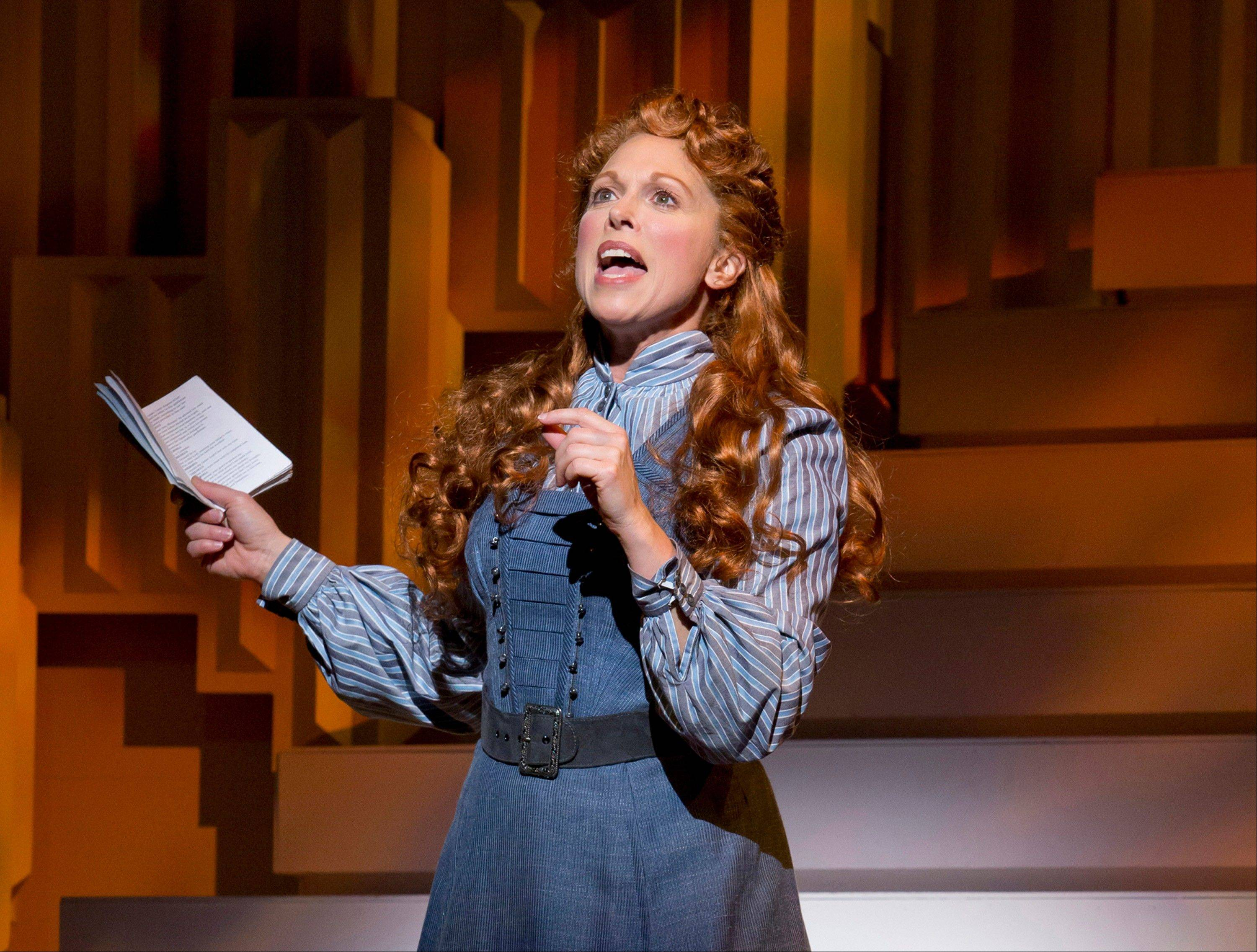 "Carolee Carmello during a performance of the musical ""Scandalous: The Life and Trials of Aimee Semple McPherson,"" in New York. Carmello was nominated for a Tony Award for best leading actress in a musical."