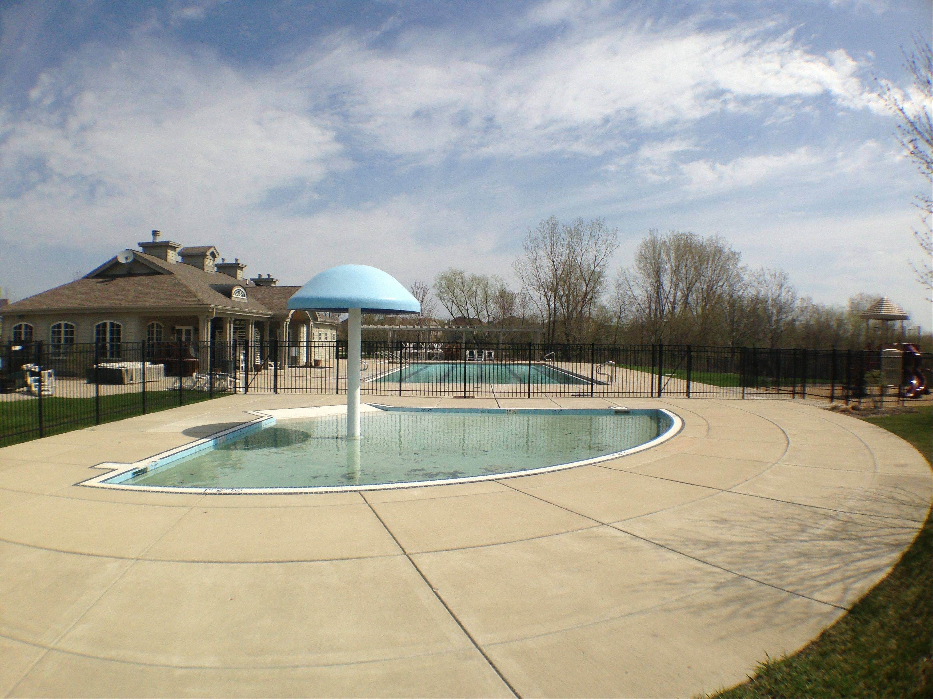 Mill Creek boasts a community clubhouse with fitness center and outdoor pool.