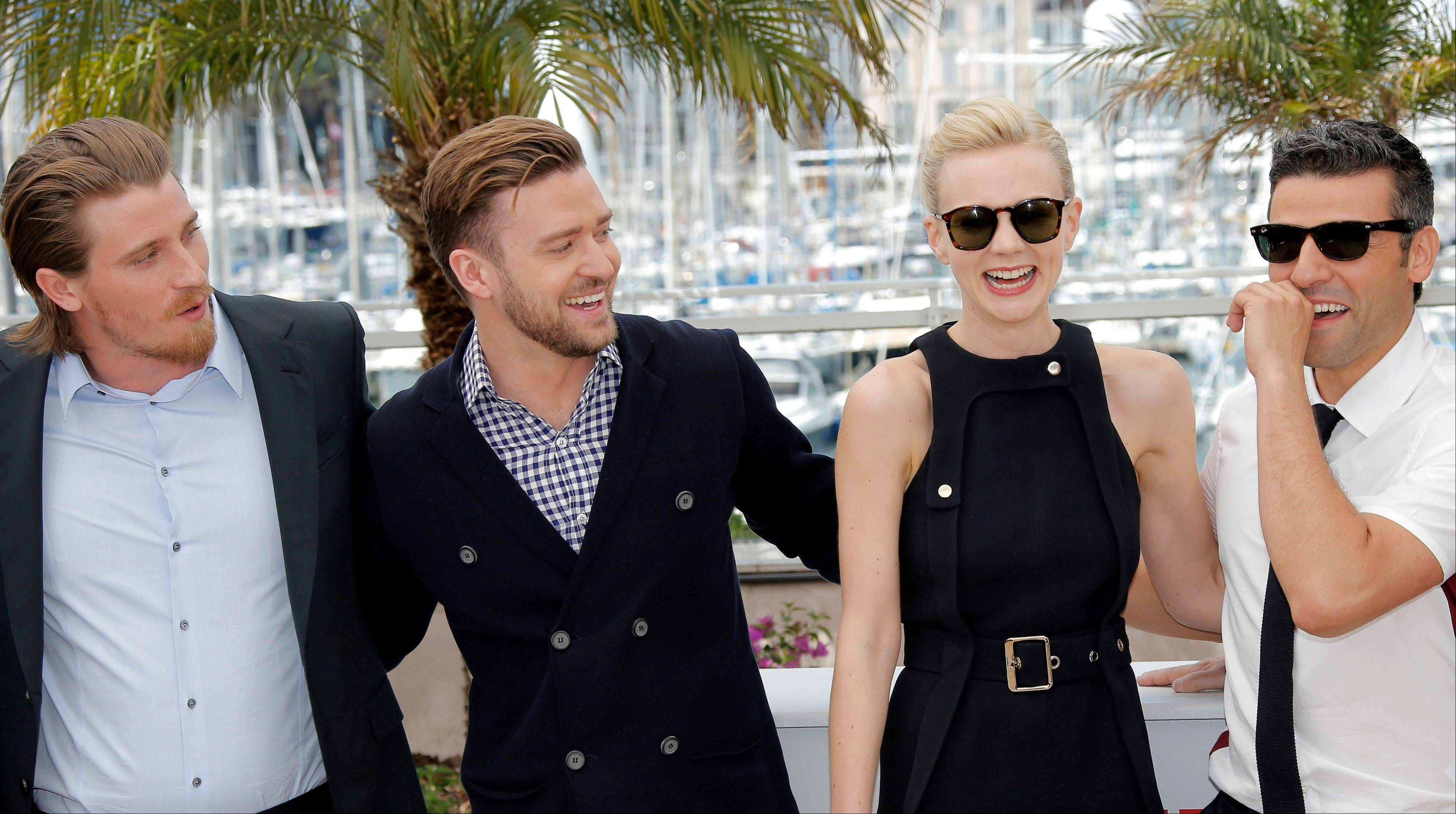 Actors Garrett Hedlund, Justin Timberlake, Carey Mulligan and Oscar Isaac publicize the film �Inside Llewyn Davis� at the 66th international film festival in Cannes Sunday.