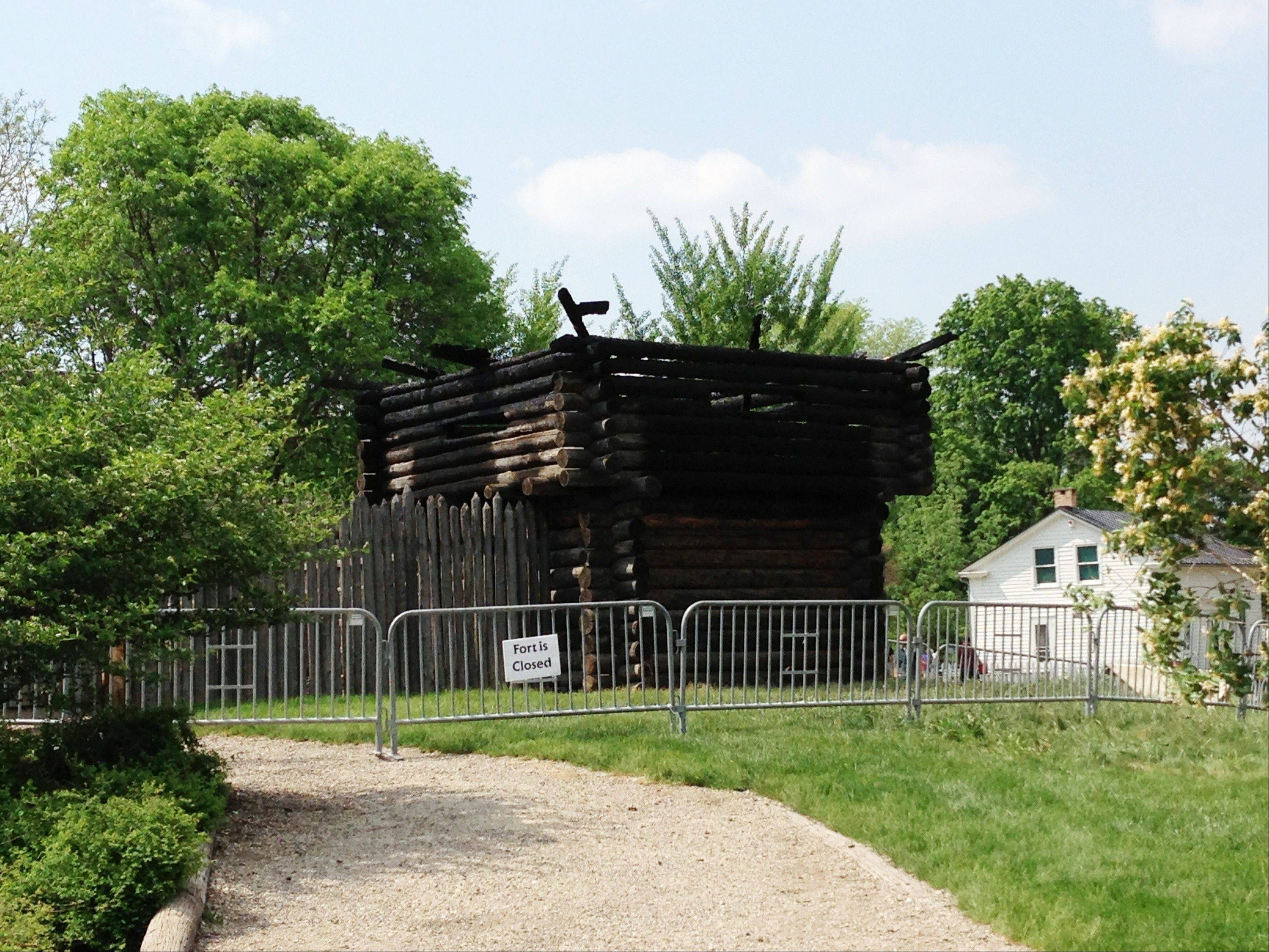 The Fort Payne building at the Naper Settlement living-history museum in Naperville was damaged by fire early Sunday morning. The fort was closed Sunday, but other portions of the Naper Settlement remained open.