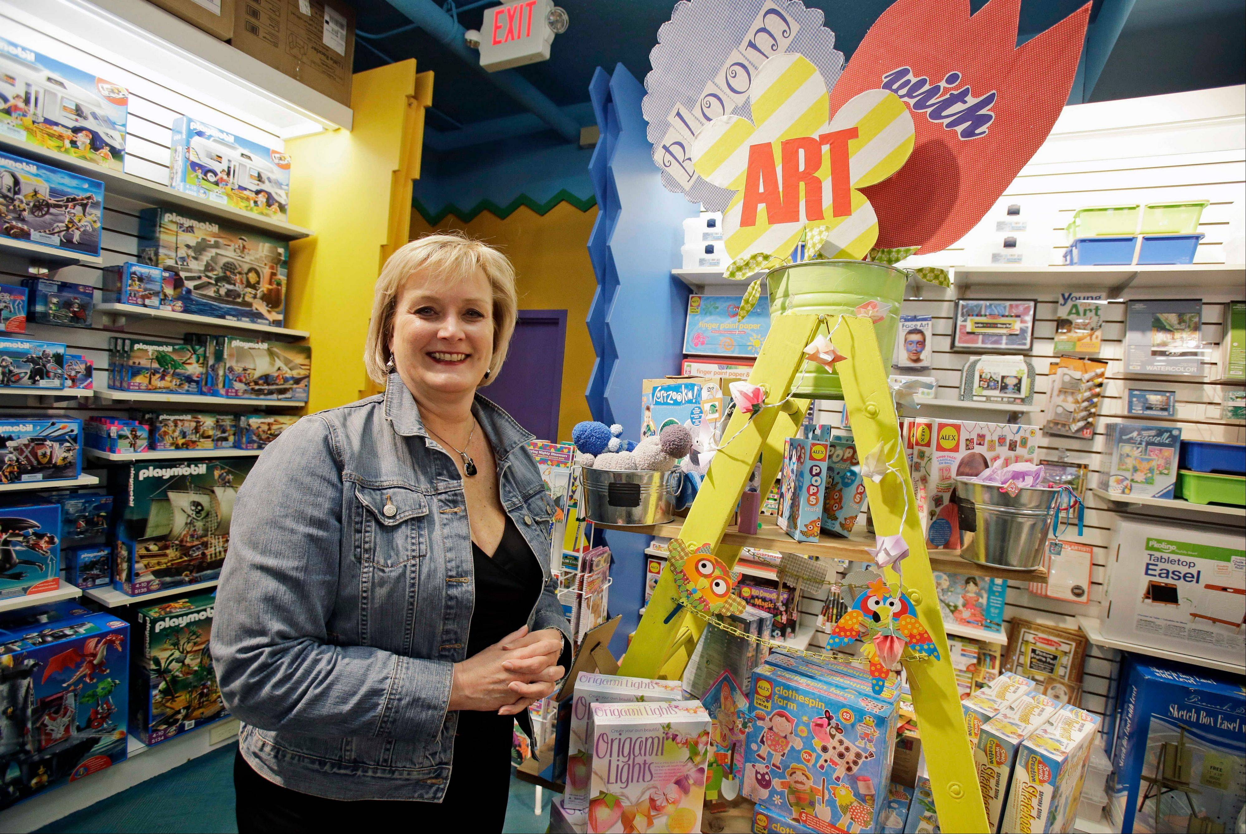 Roberta Bonoff, president and CEO of Creative Kidstuff, a toy store chain, at the store in St. Paul, Minn. The toy retailer based in Minneapolis, just expanded by buying a 26-year-old online and catalog toy retailer, Sensational Beginnings. Bonoff said the owner was tired and ready to sell.