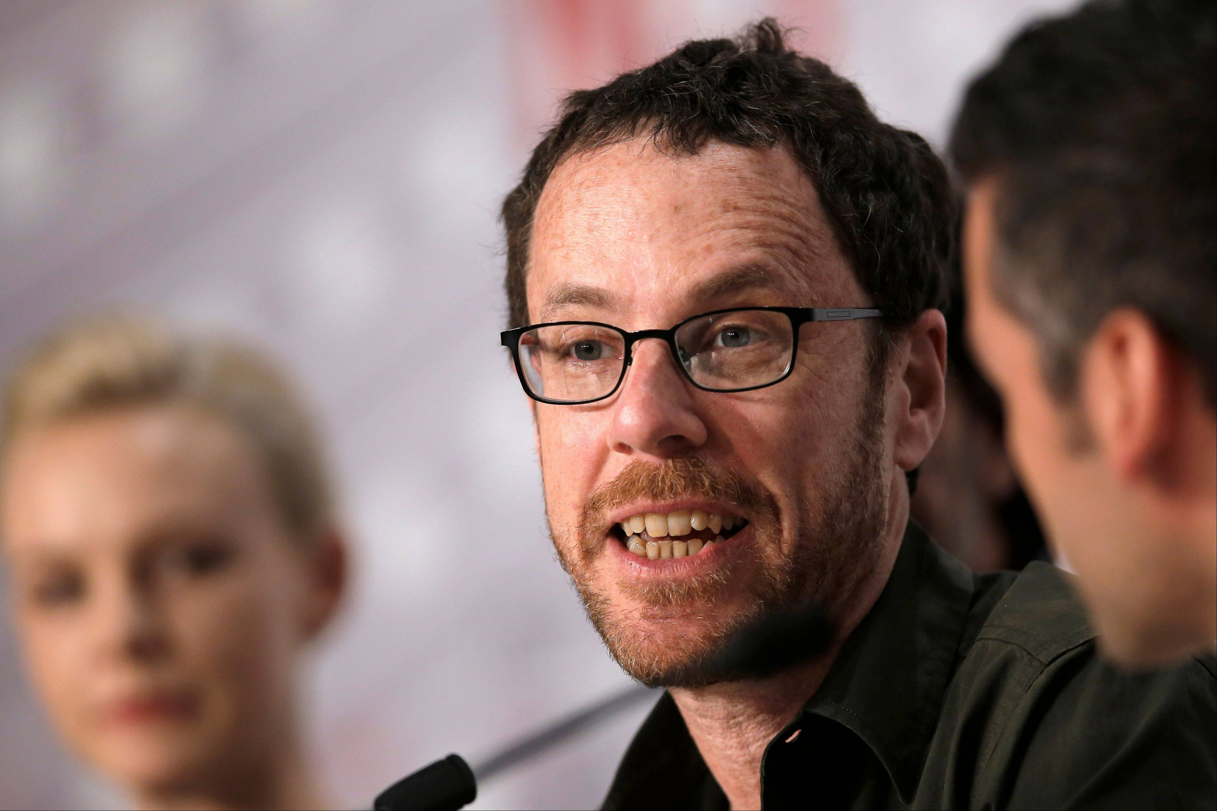 "Director Ethan Coen speaks during a press conference for ""Inside Llewyn Davis"" at the 66th international film festival in Cannes Sunday."