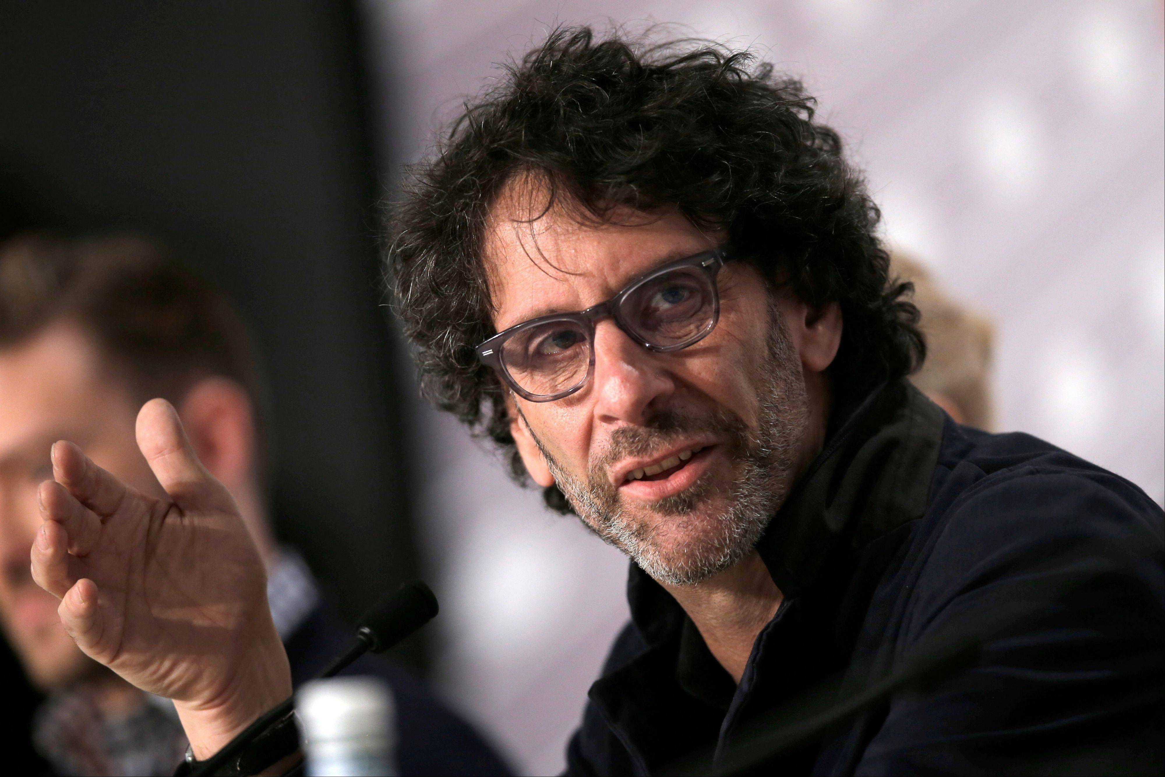 "Director Joel Coen speaks during a press conference for ""Inside Llewyn Davis"" at the 66th international film festival in Cannes Sunday."