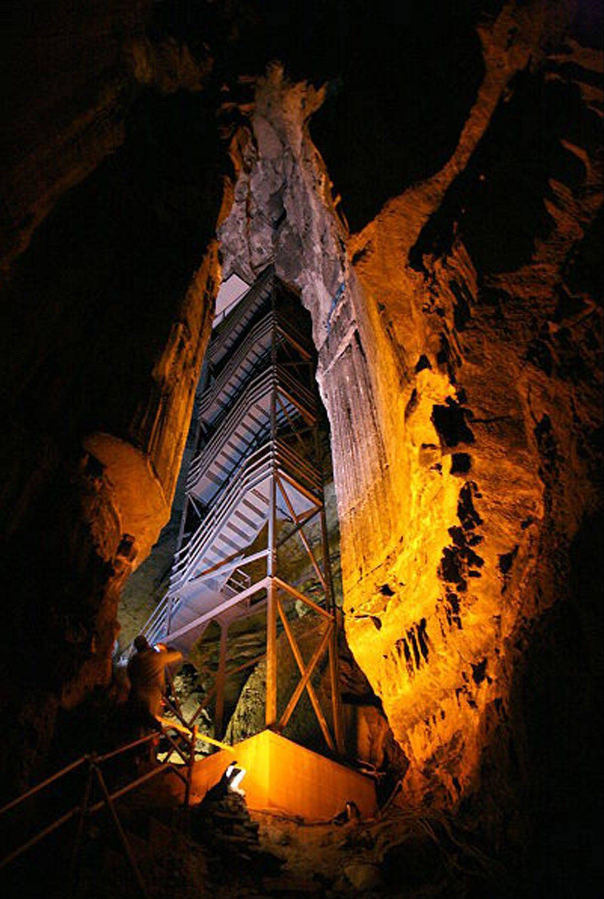 Mammoth Cave is the granddaddy of caves, located in southwestern Kentucky.