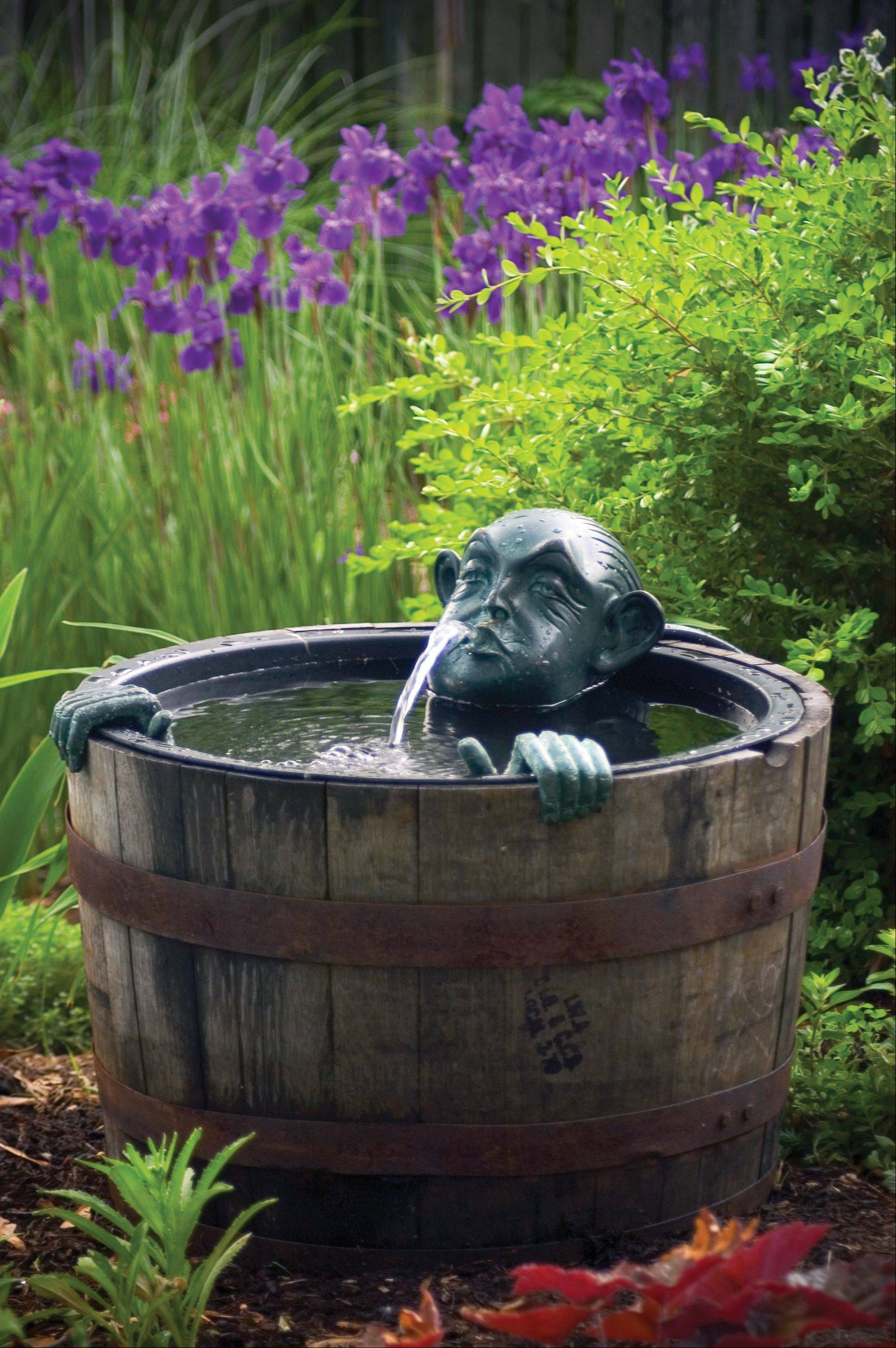 Water features can add whimsy to your small space.