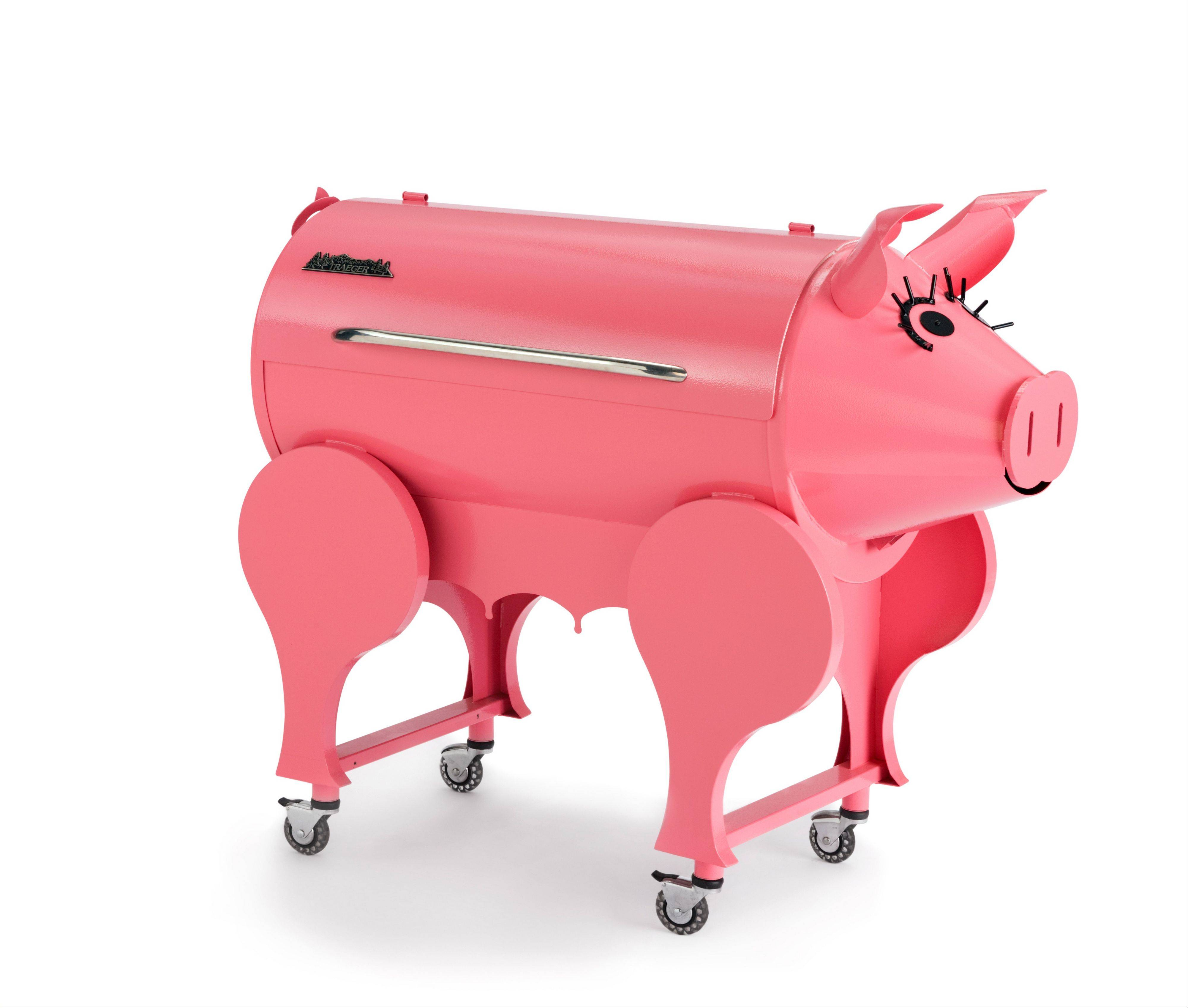 The Pink Pig Pellet Grill is truly a fun way to cook.