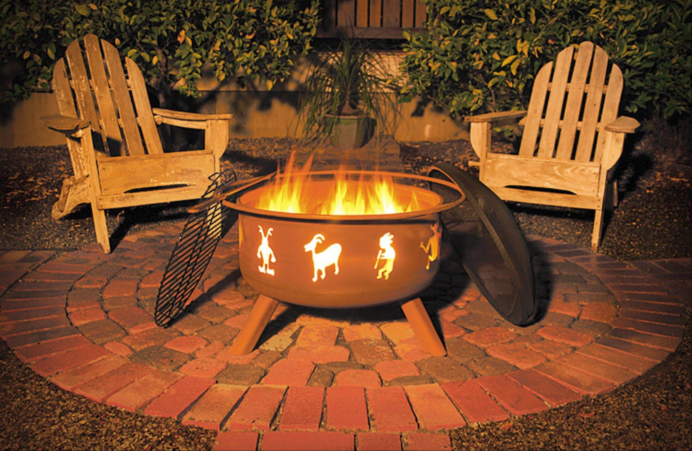 Sojoe firepits would be an economical substitute for a built-in firepit