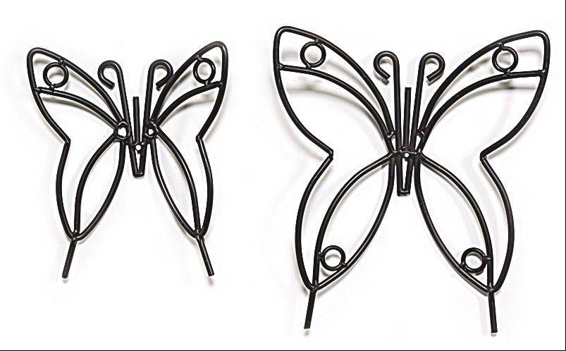 These wrought-iron butterflies for the wall can complement your country decor.