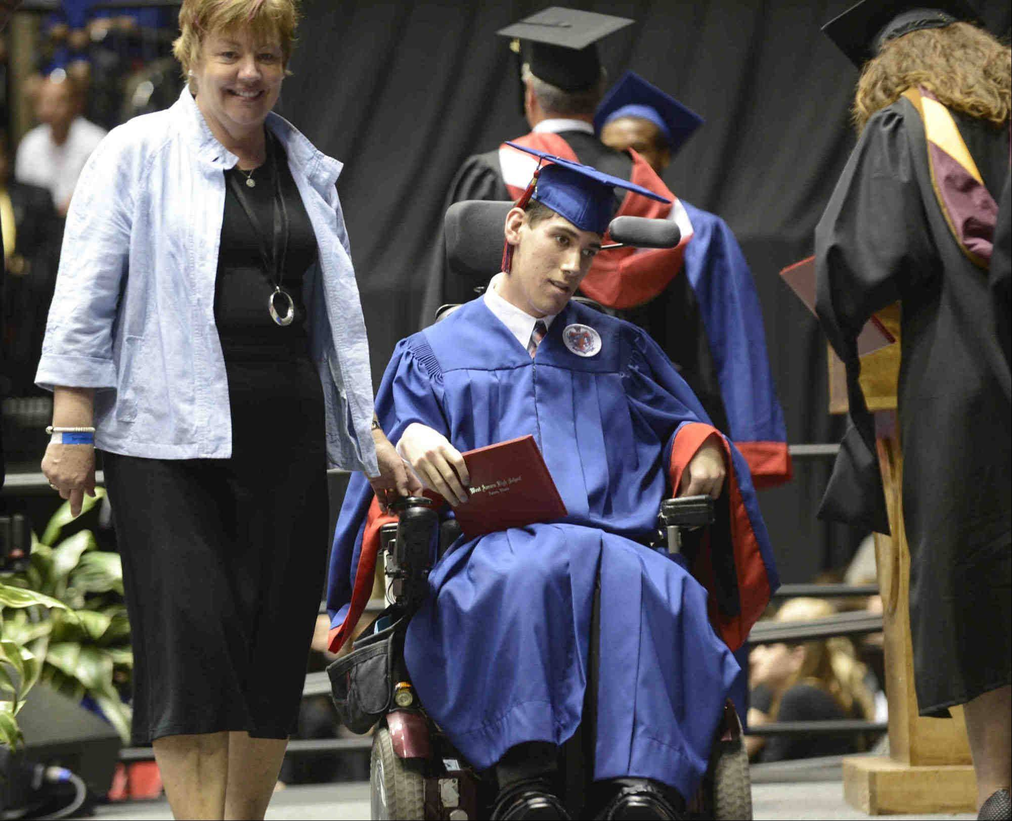 Images from the West Aurora High School graduation ceremony Sunday, May 19, 2013 at the NIU Convocation Center in Dekalb.