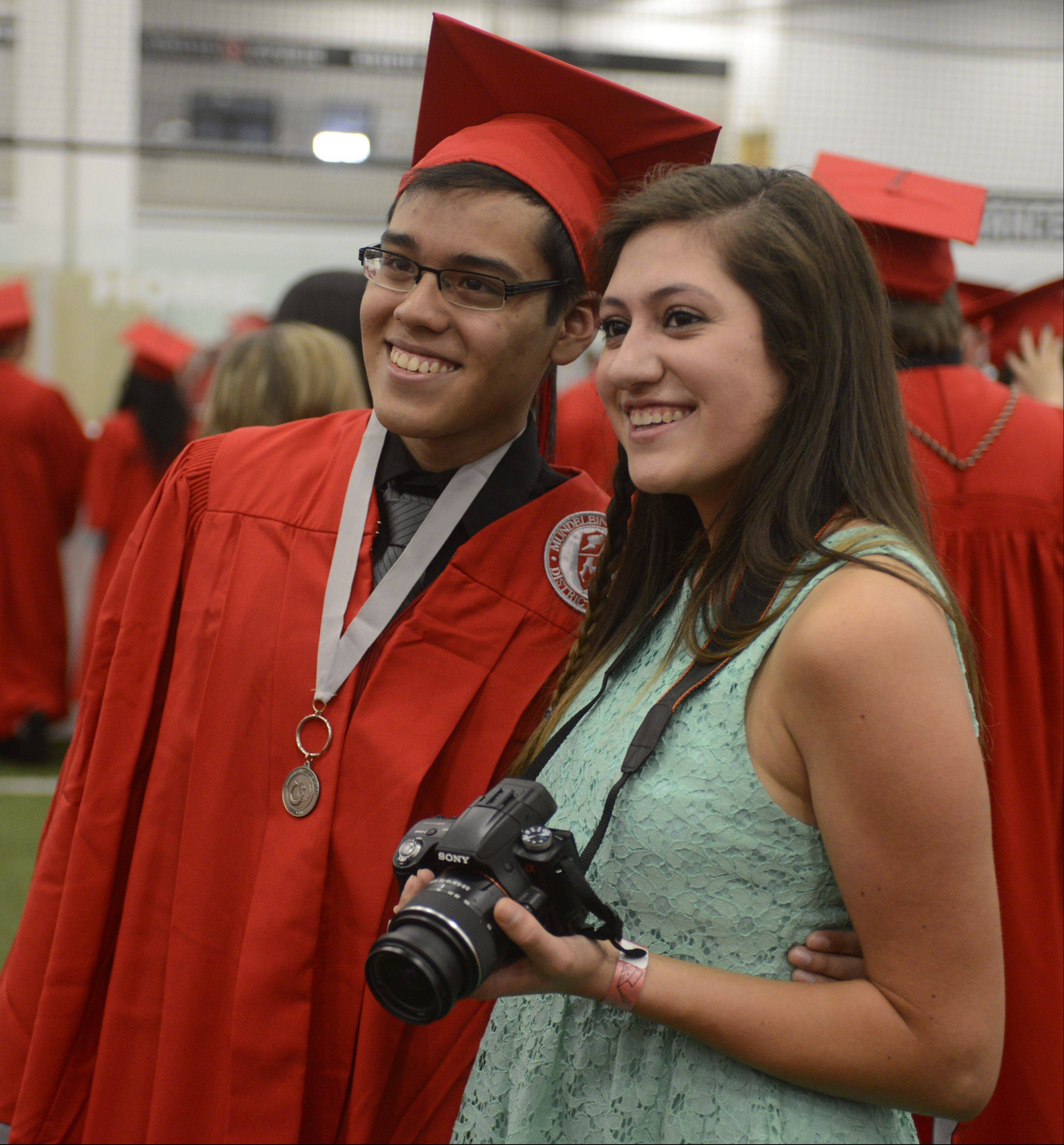 Images from the Mundelein High School graduation on Sunday, May 19 at the Libertyville Sports Complex.