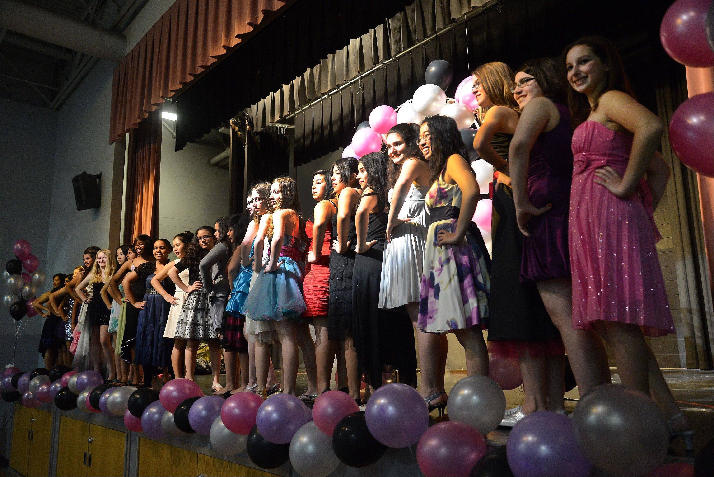 Hawthorn Middle School South's 8th grade girls fashion show.