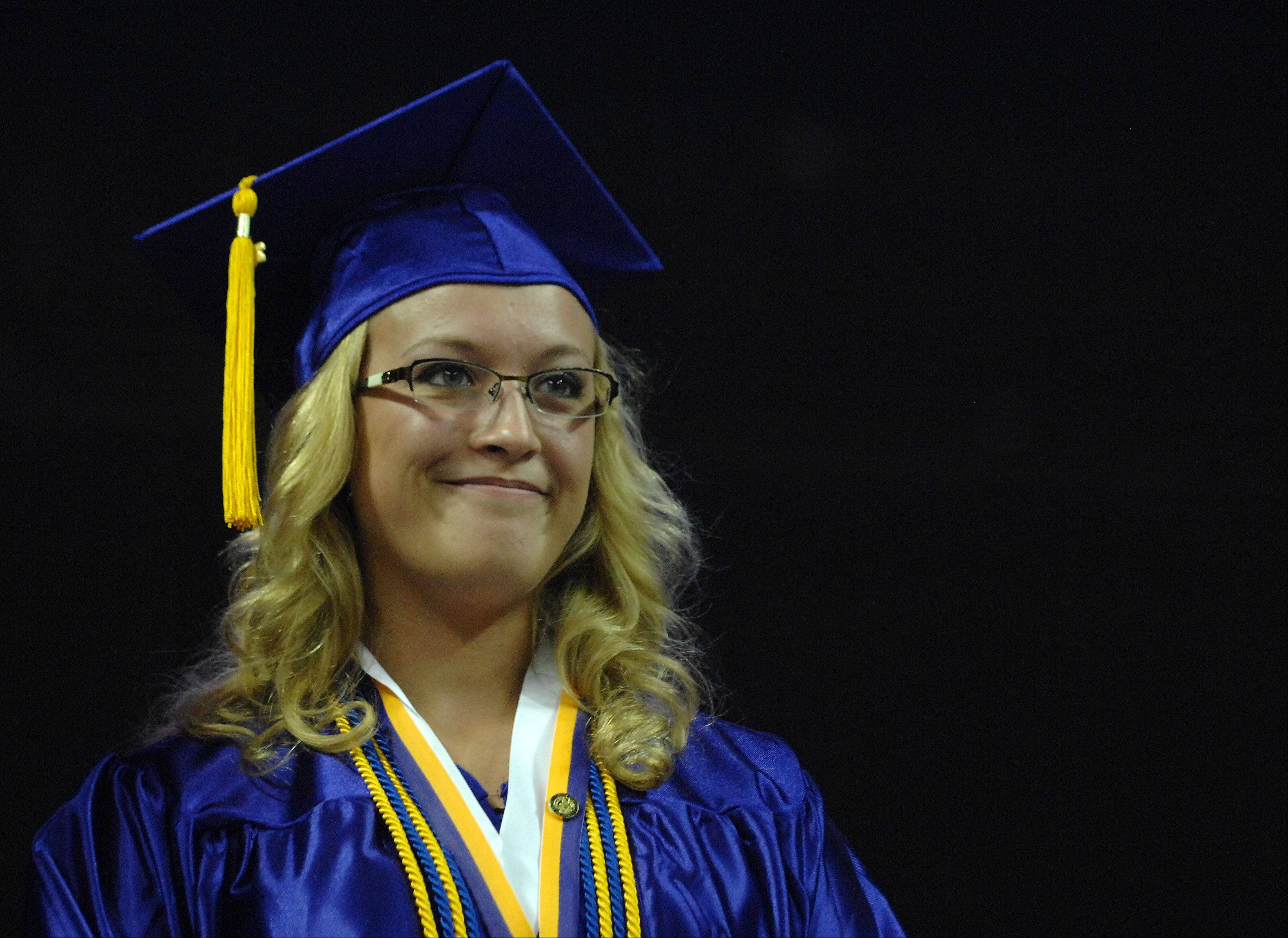 $PHOTOCREDIT_ON$during Hampshire High School's graduation ceremony Saturday at the Sears Centre in Hoffman Estates. Rick West/rwest@dailyherald.com$PHOTOCREDIT_OFF$Images from the Hampshire High School graduation ceremony Saturday, May 18, 2013 at the Sears Centre in Hoffman Estates.