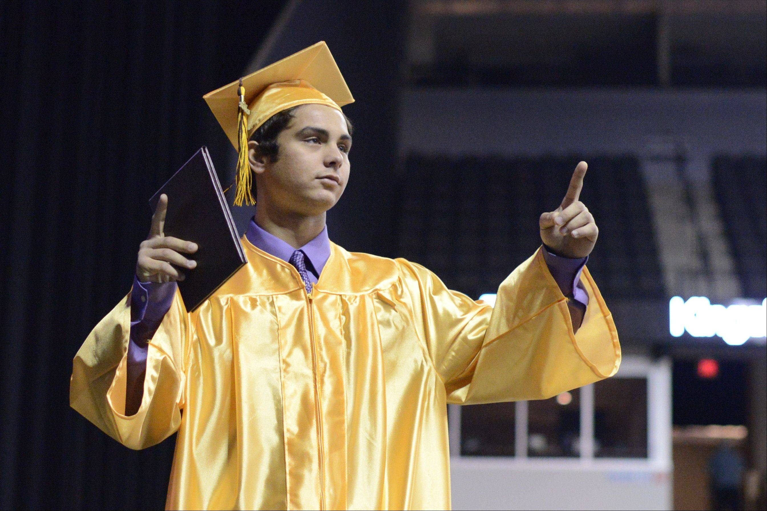 Images from the Jacobs High School graduation, Saturday, May 18, 2013 at the Sears Centre in Hoffman Estates.