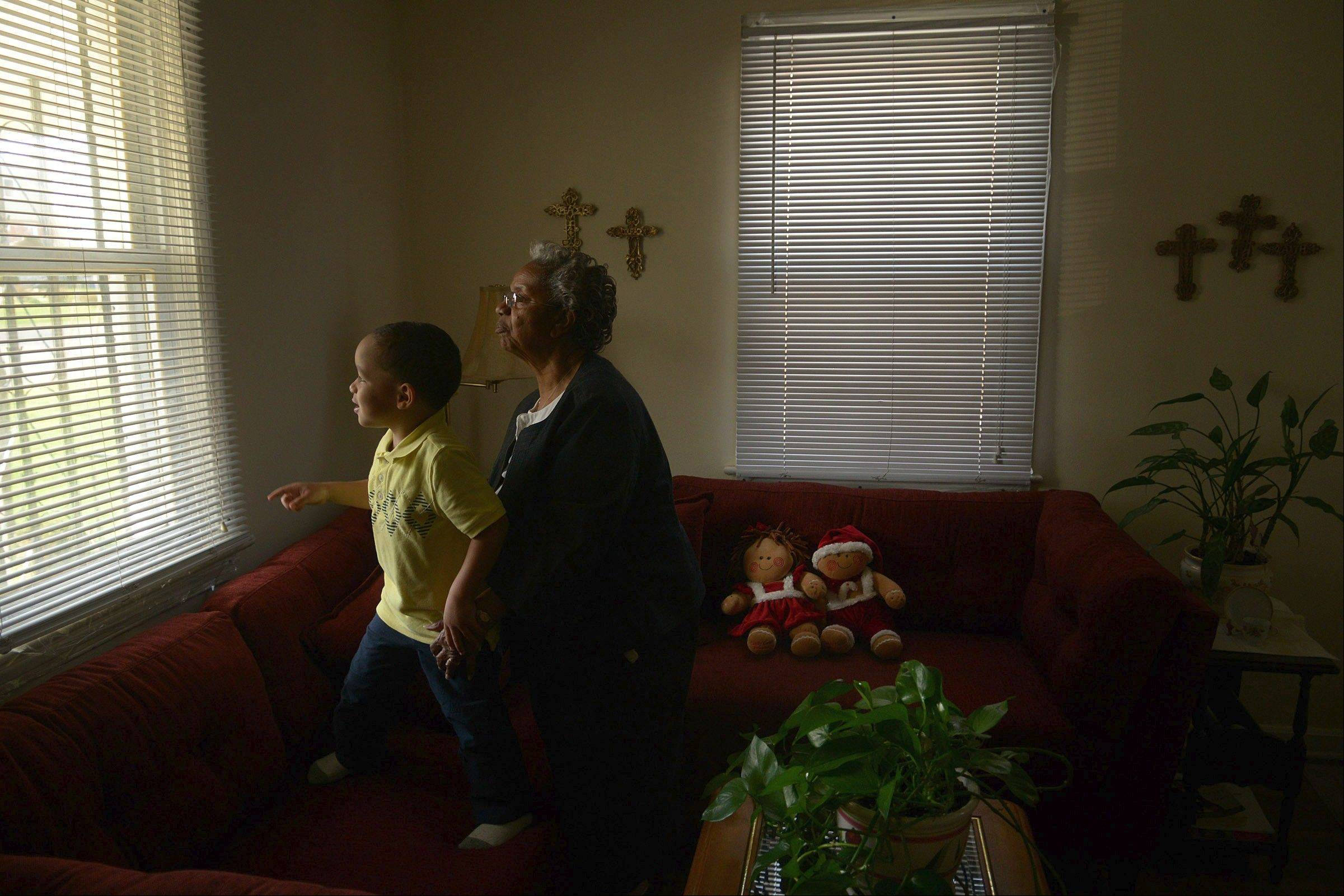 Erma Taylor says her great-grandson, Juel Taylor Russ, who lives with her in her Falls Church, Va., home, developed allergies because of mold in the carpet.