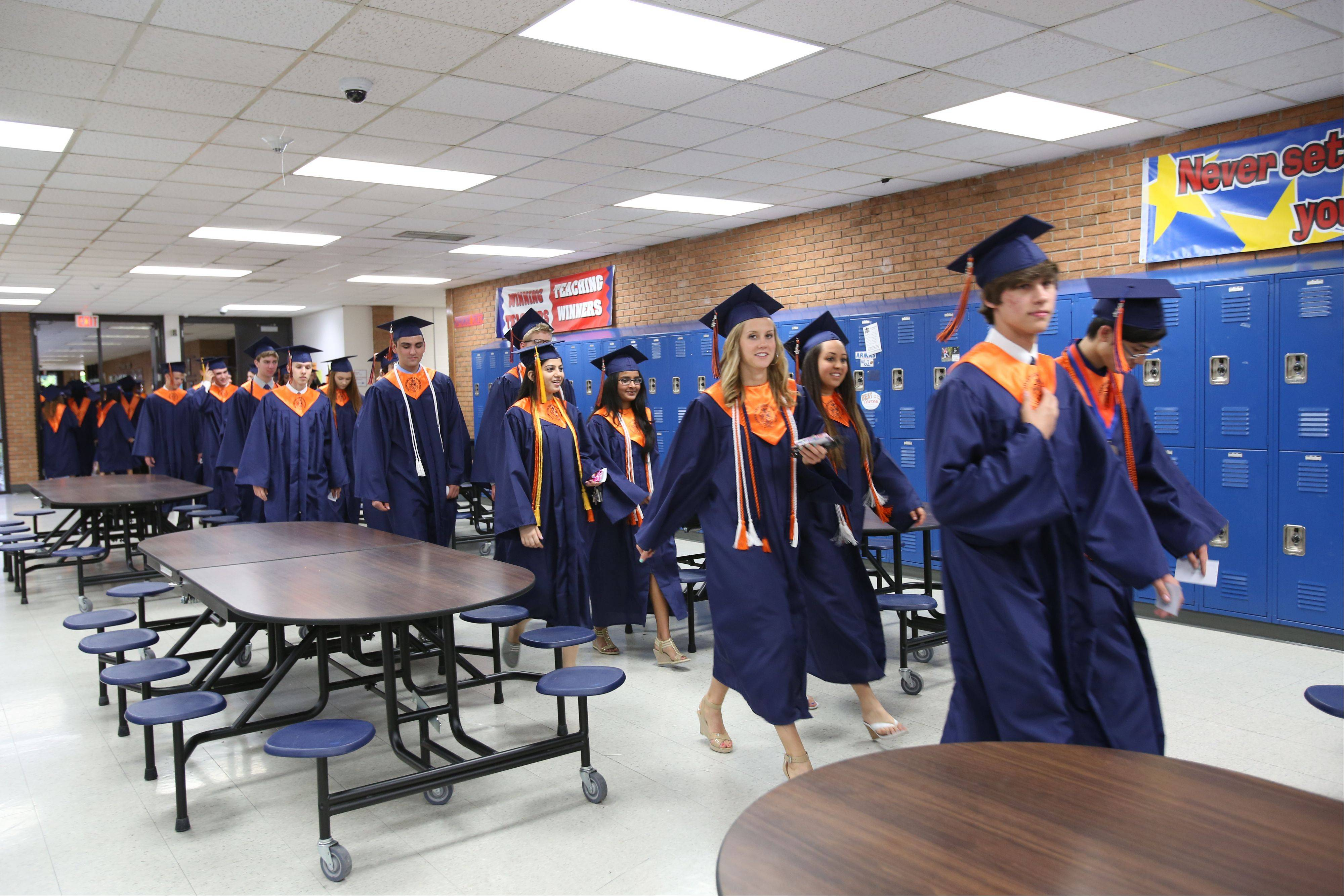 Images from the Naperville North High School graduation on Monday, May 20 in Naperville.