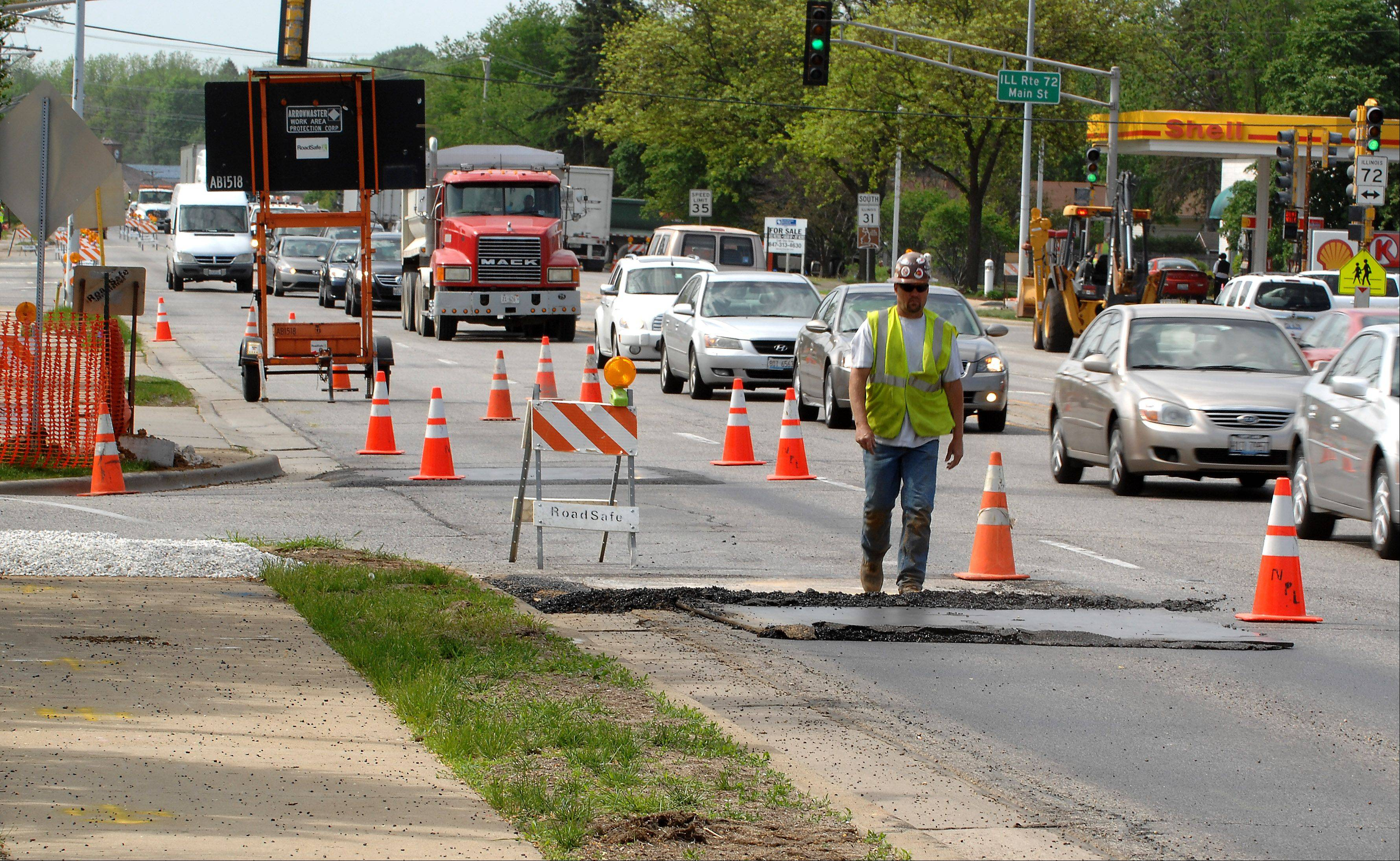 Preparations are under way for widening of the intersection of Route 72 and Route 31. Daily lane closures will be the norm for the next six months, officials say.