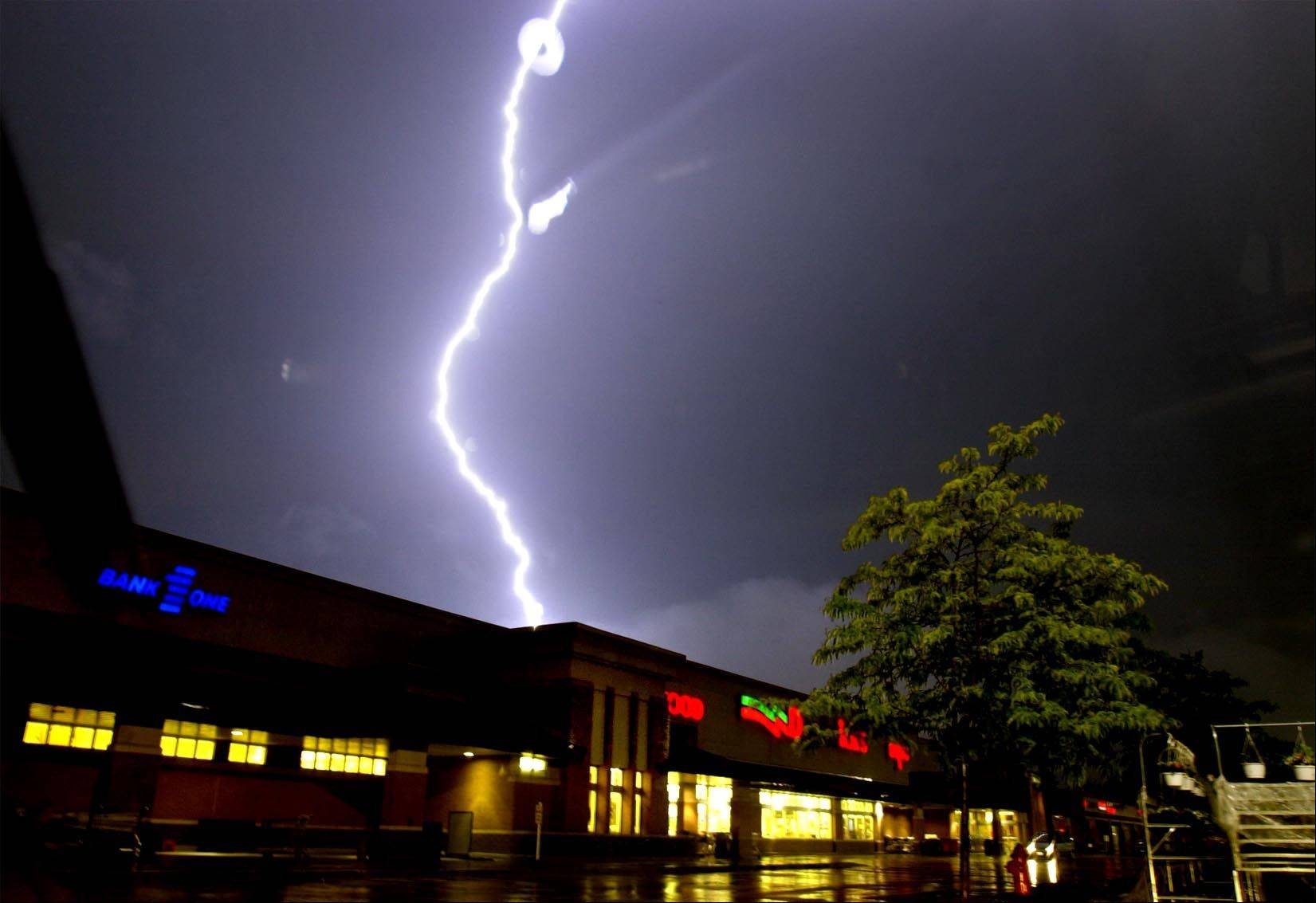 Lightning and high winds are coming through some suburbs especially south Monday night.