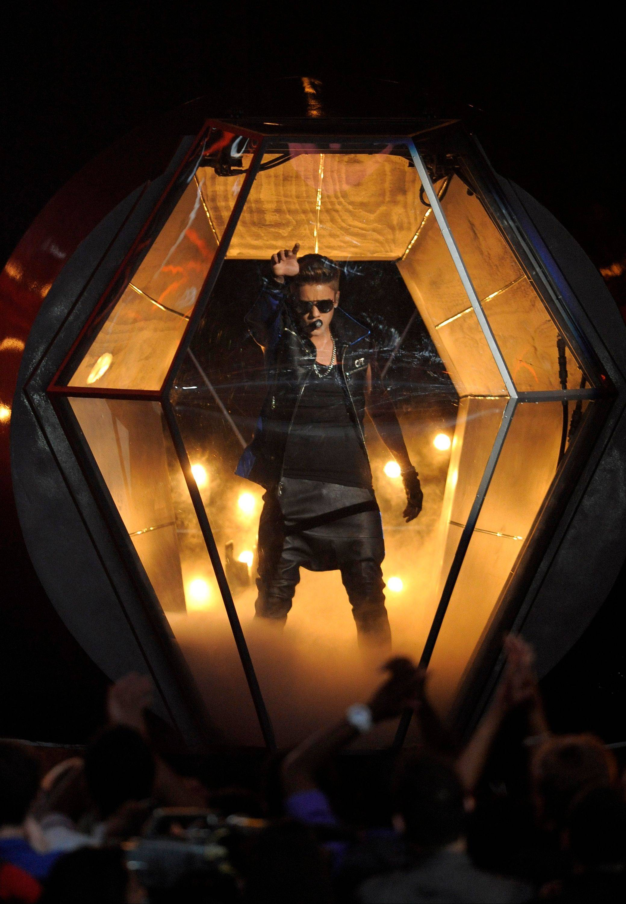 Justin Bieber performs at the Billboard Music Awards at the MGM Grand Garden Arena on Sunday, May 19, 2013 in Las Vegas.