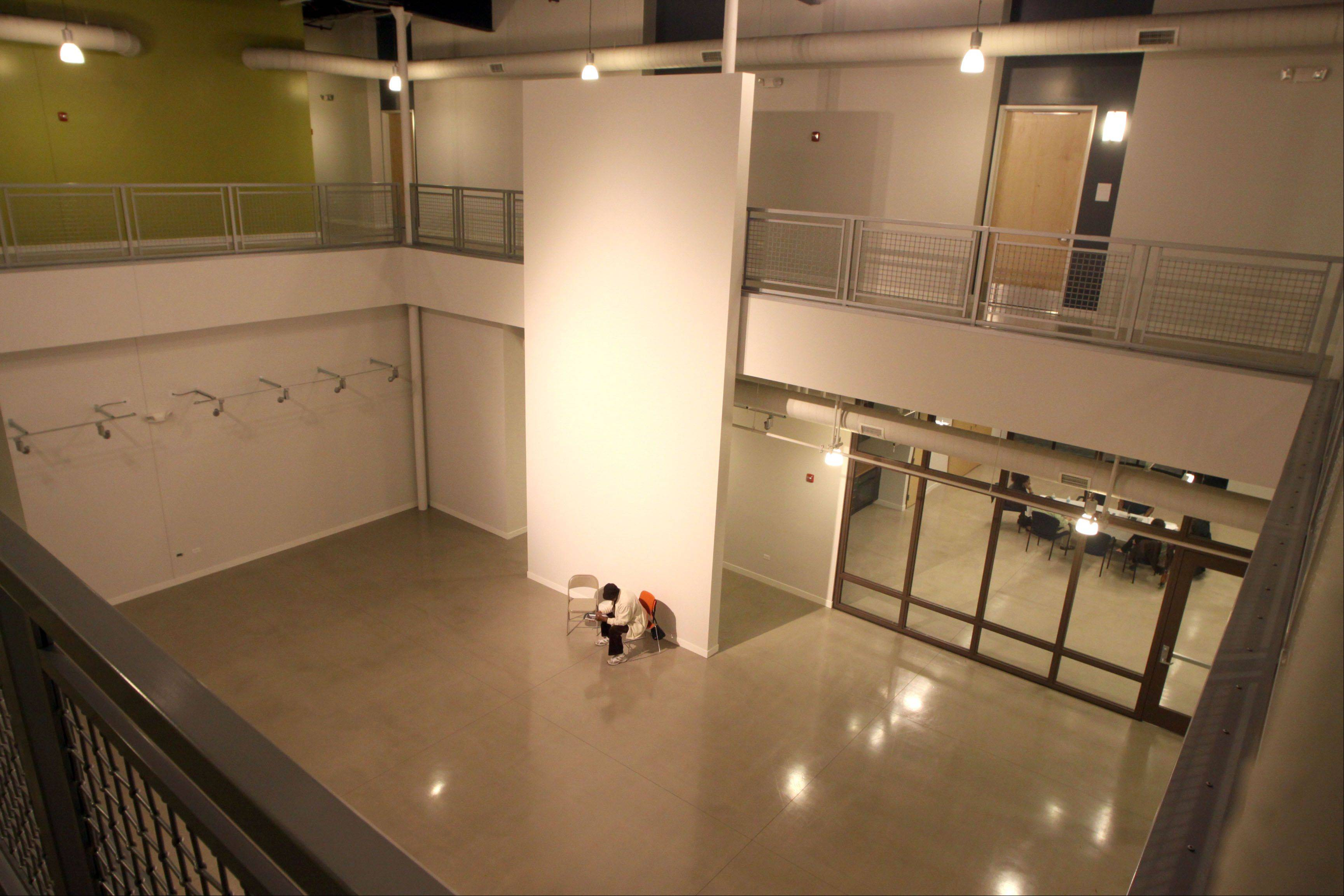 Tenants began moving in October to Elgin Artspace Lofts along Spring Street and the last of the 55 units was rented in recent weeks. The complex features an art gallery, pictured here.