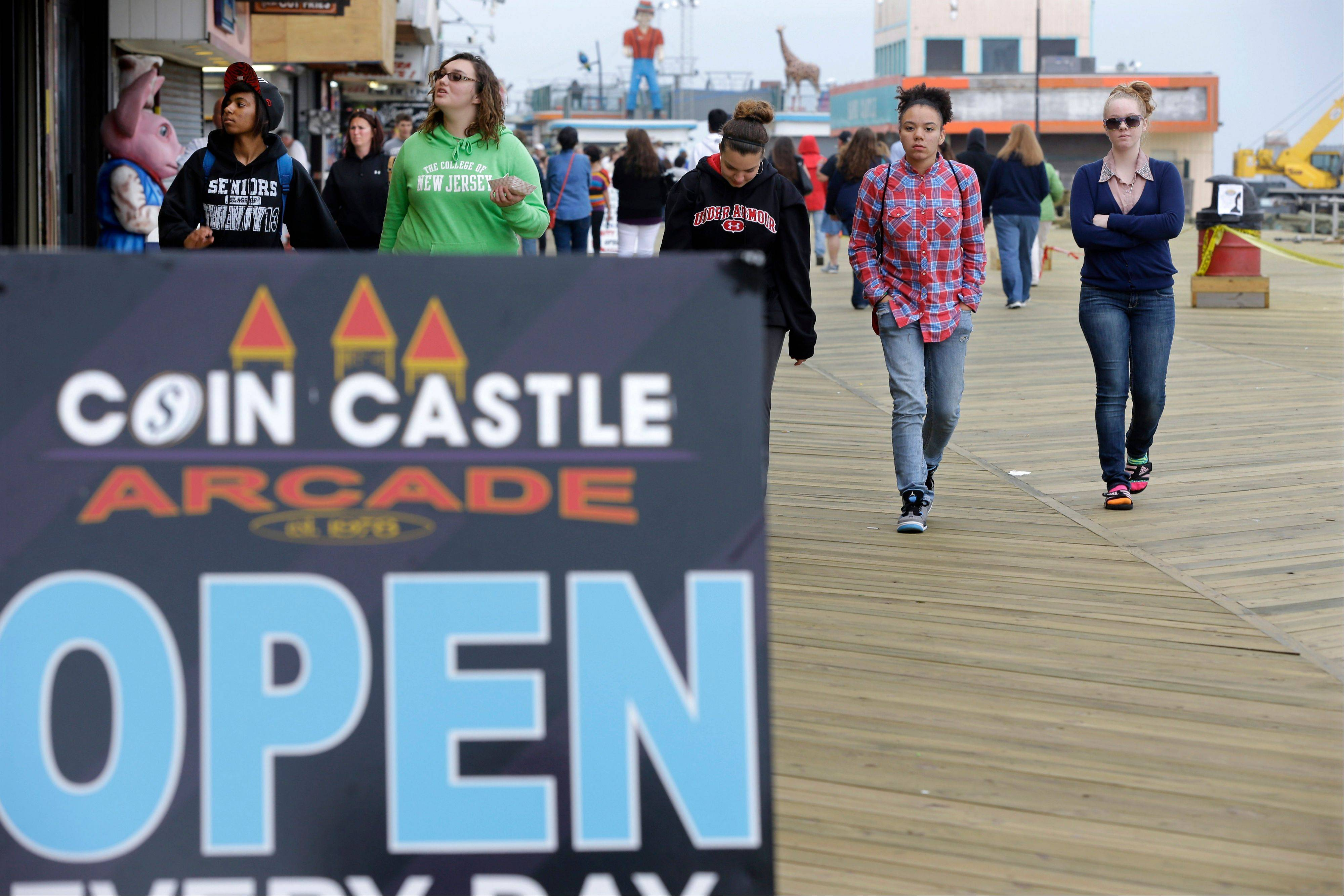 Visitors to the Jersey shore this weekend will find many of their favorite beaches and boardwalks ready for summer, thanks to a massive rebuilding effort after Superstorm Sandy. While several neighborhoods remain damaged, all but one of the storm-wrecked boardwalks should be ready for Memorial Day weekend.
