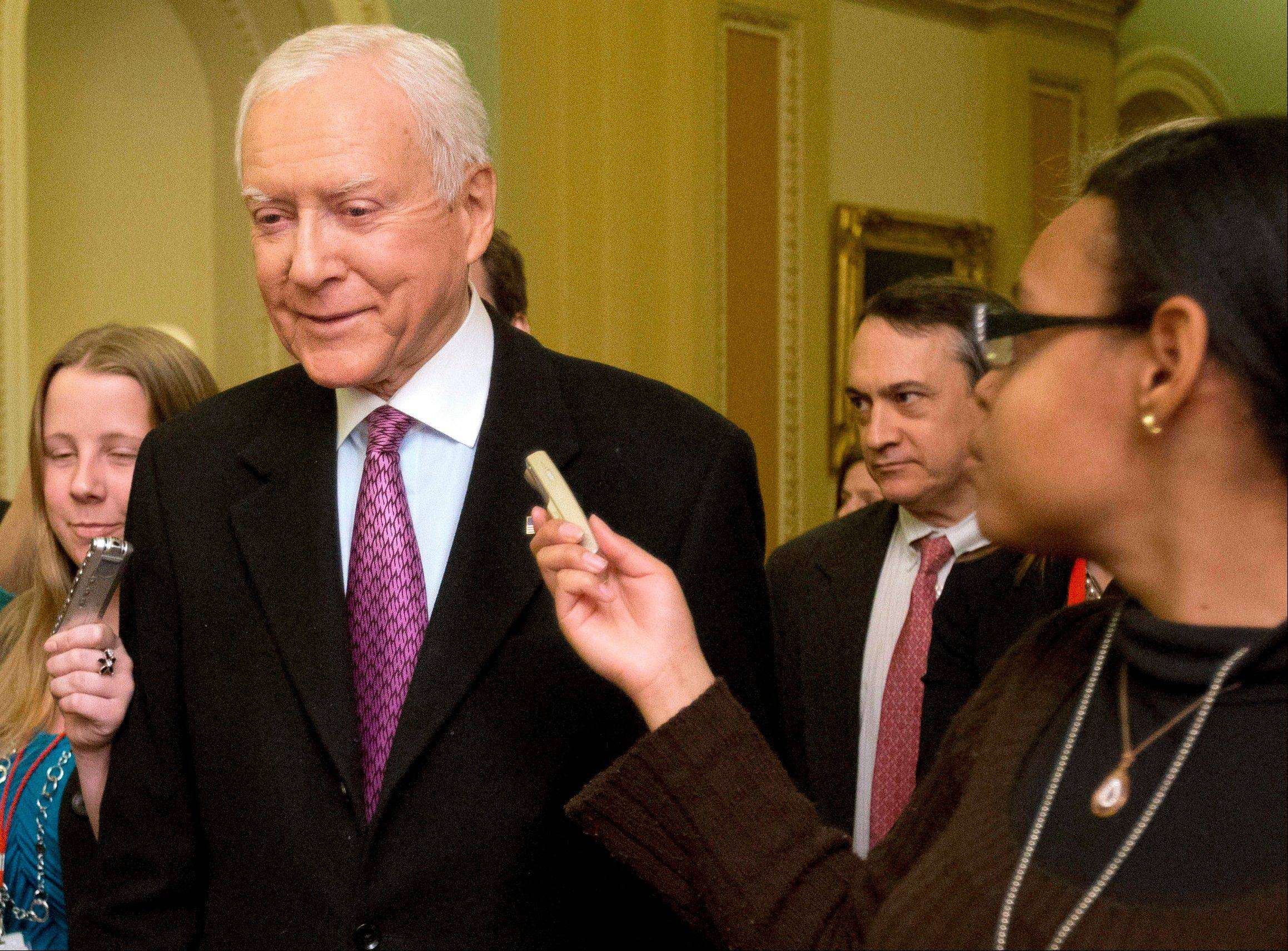 Leading senators working to resolve a key issue on immigration legislation, including Orrin Hatch, R-Utah, have agreed to a compromise covering expansion of a high-tech visa program, officials said Tuesday, resolving one of two major hurdles to committee passage of the landmark bill.