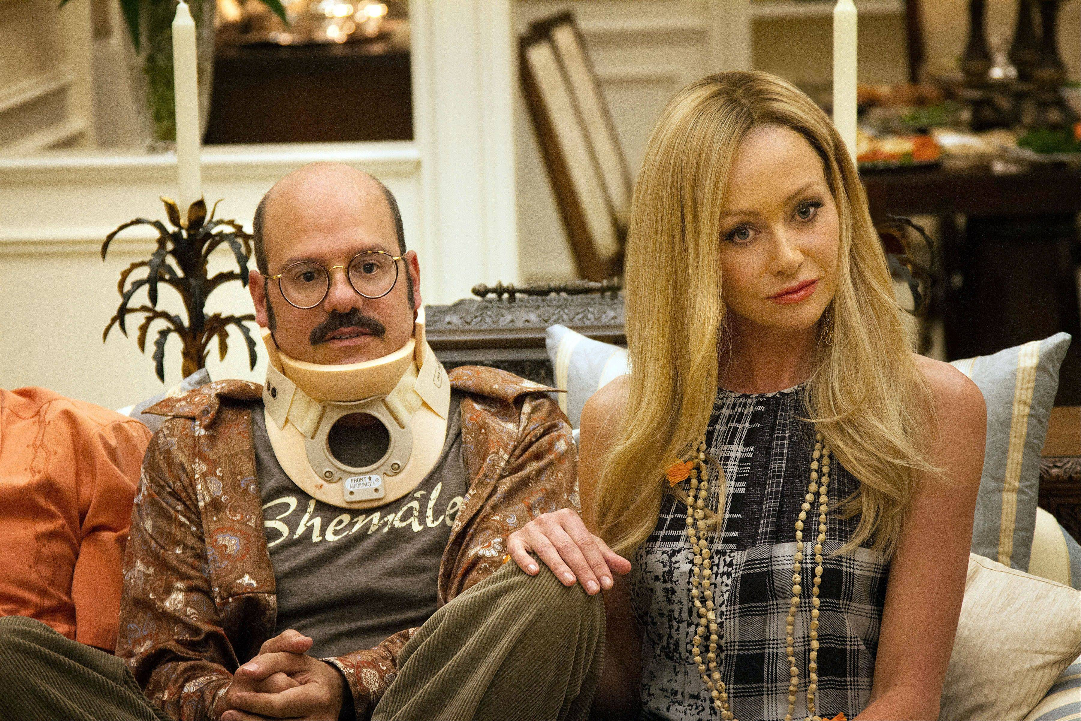"David Cross, left, and Portia de Rossi in ""Arrested Development,"" premiering Sunday, May 26, on Netflix."