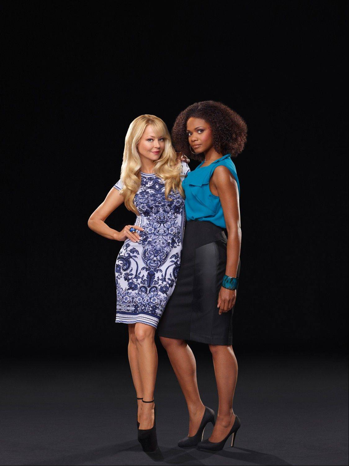 "Charlotte Ross, an alumna of New Trier High School, poses with ""Hit the Floor"" co-star Kimberly Elise. The new VH1 show debuts Monday."