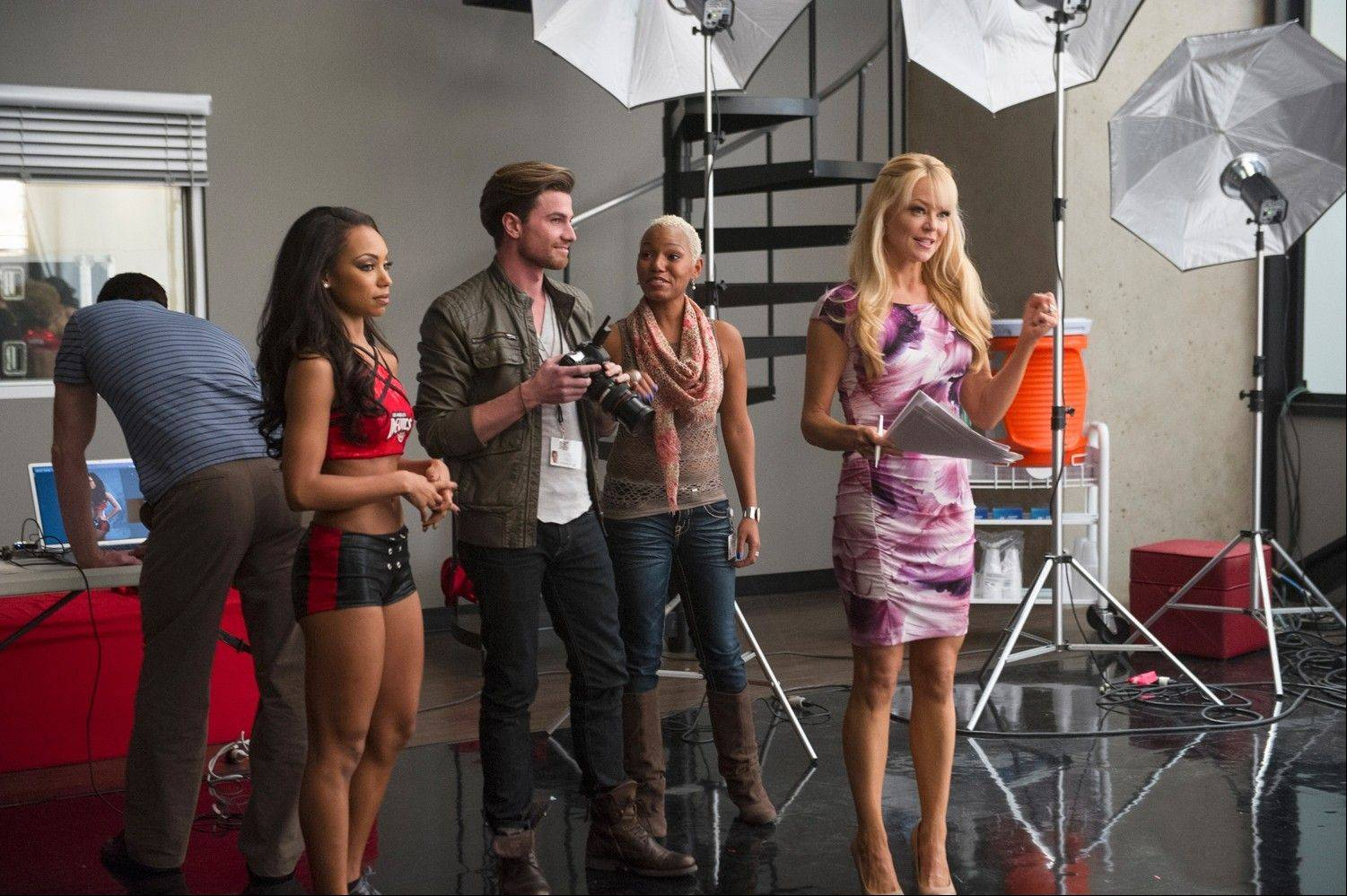 "Charlotte Ross, right, who grew up in Glencoe and Wilmette, is pictured here in a scene from the new VH1 show ""Hit the Floor."" It premieres Monday."