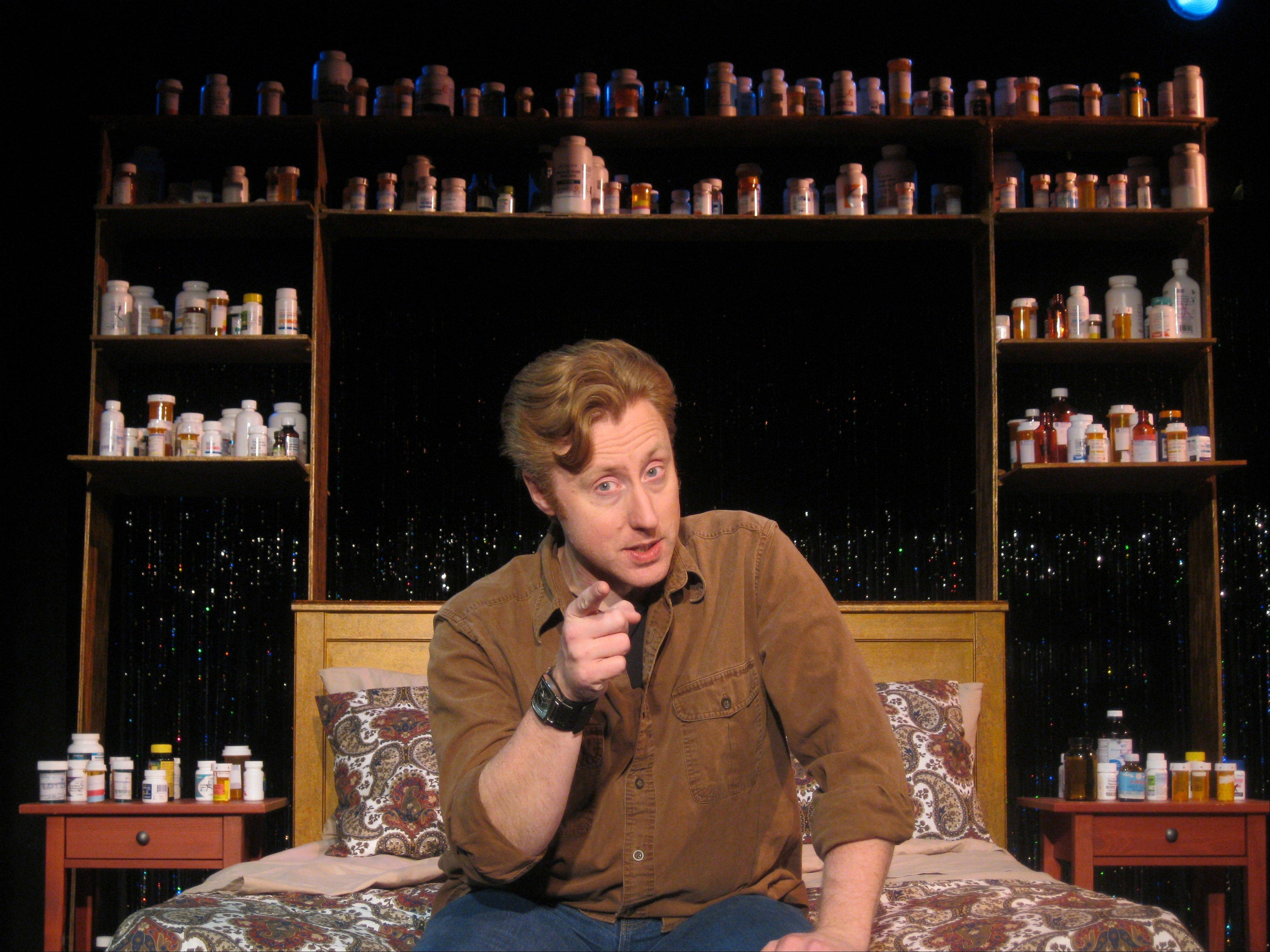 "Andrew Pond stars in ""Side Effects May Include ..."" at Pheasant Run Resort in St. Charles on Friday, May 24."