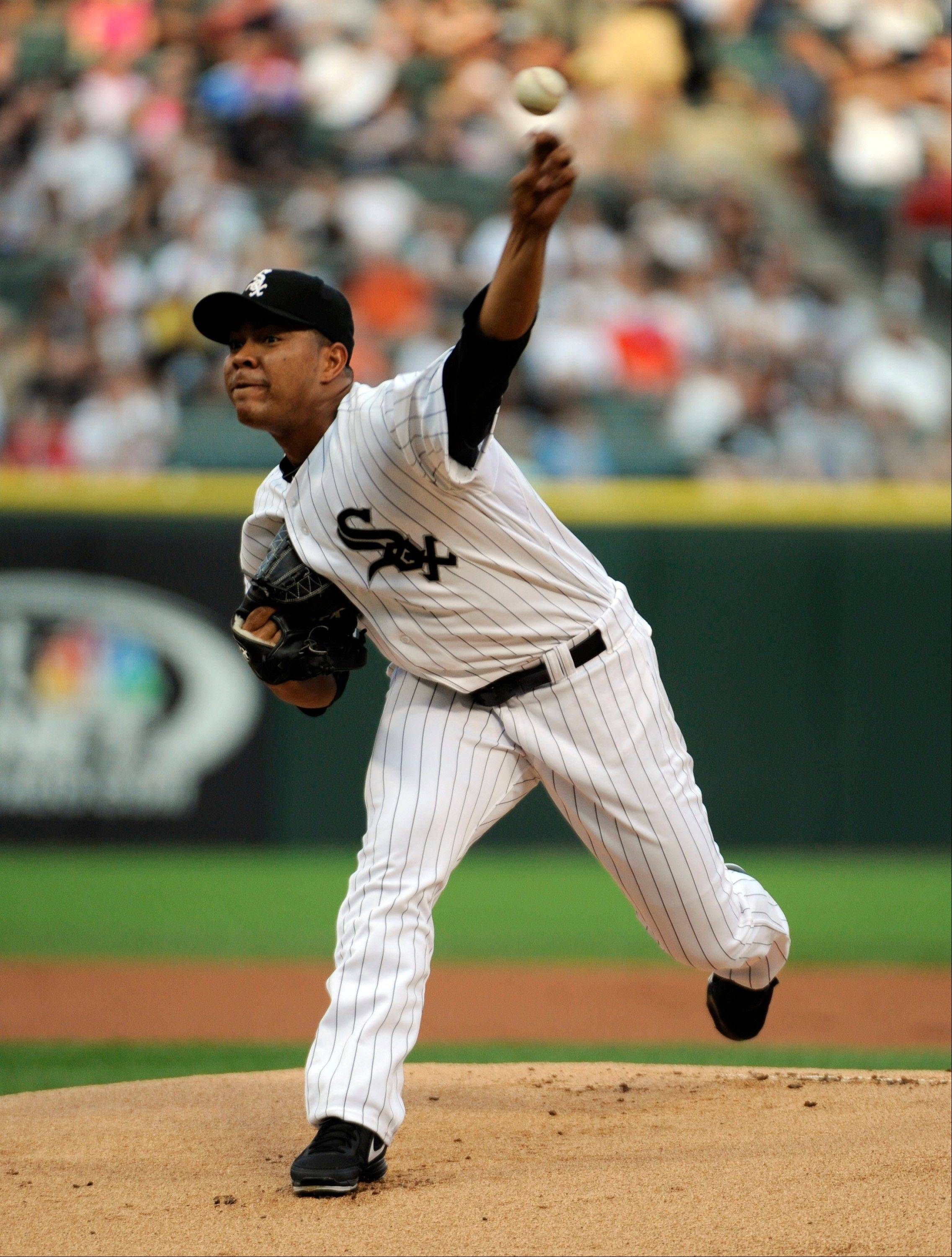 White Sox starter Jose Quintana works against the Red Sox on Tuesday at U.S. Cellular Field.