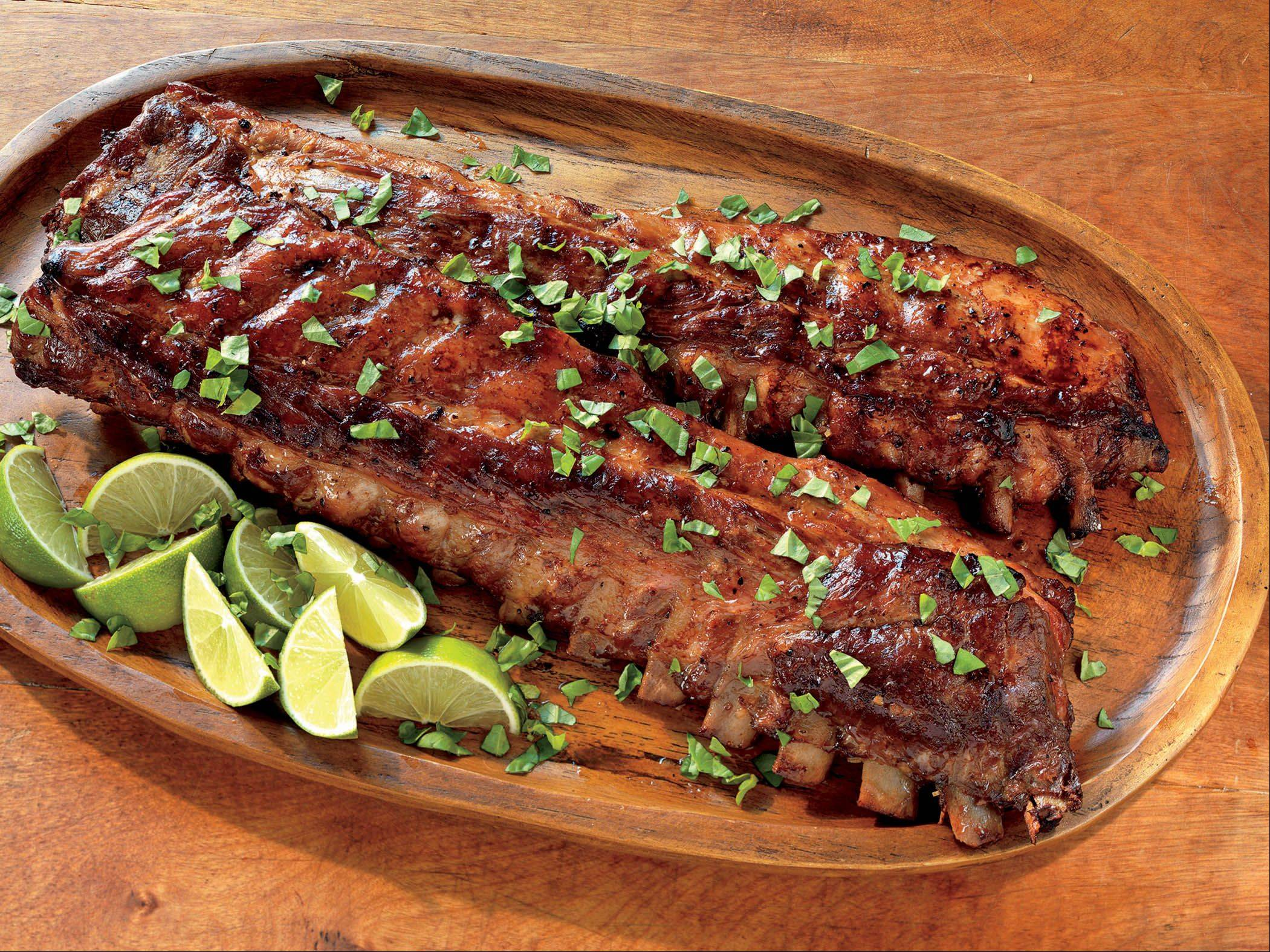 Honey- and Lime-Glazed Baby Back Ribs